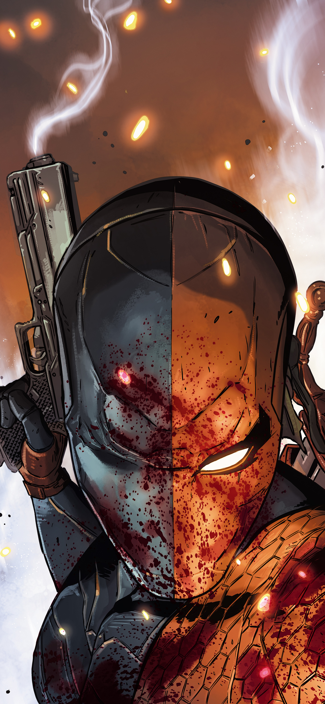 1125x2436 Art Deathstroke Iphone Xs Iphone 10 Iphone X Hd 4k Wallpapers Images Backgrounds Photos And Pictures
