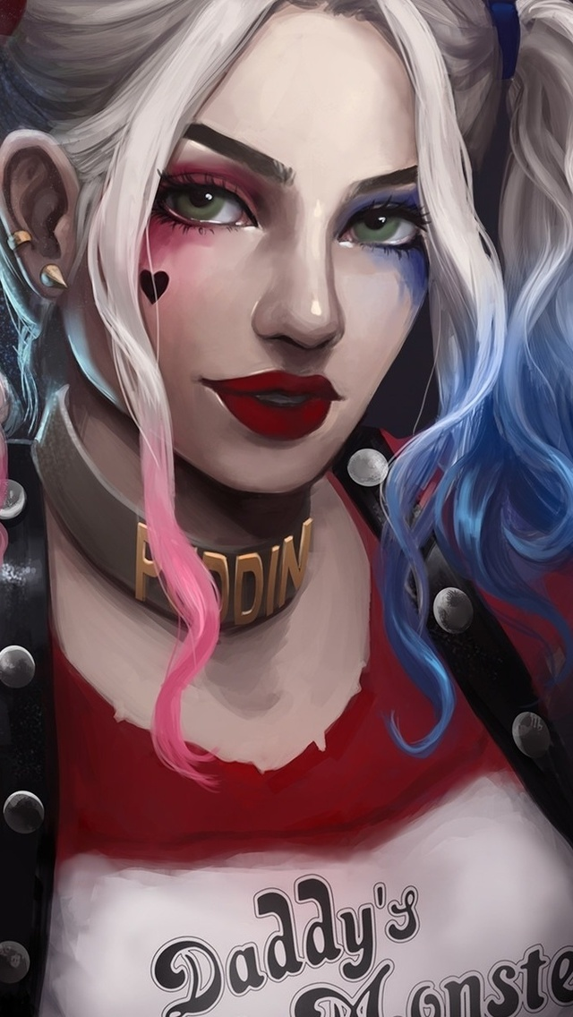 640x1136 Art Harley Quinn Hd Iphone 55c5sse Ipod Touch