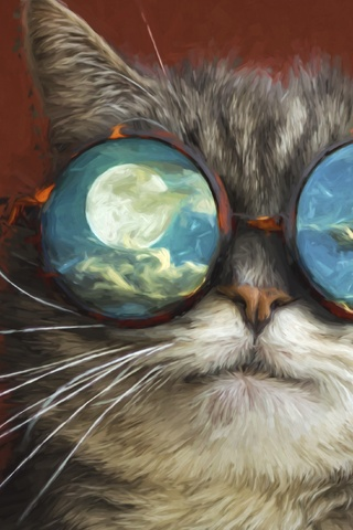 320x480 Artistic Cat Apple Iphone Ipod Touch Galaxy Ace Hd 4k