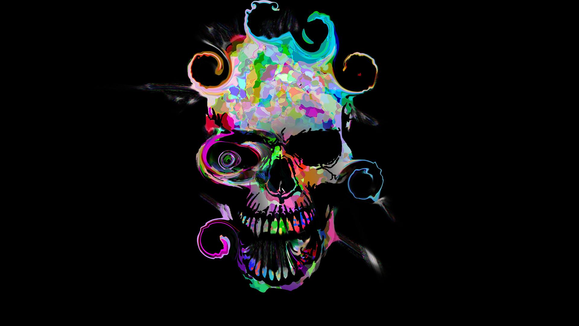 1920x1080 Artistic Colorful Skull Laptop Full HD 1080P HD ...