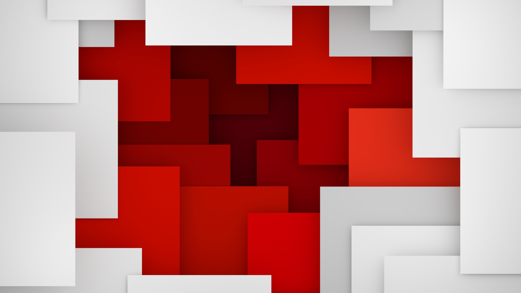 2048x1152 Artistic Geometry Red White 2048x1152 Resolution