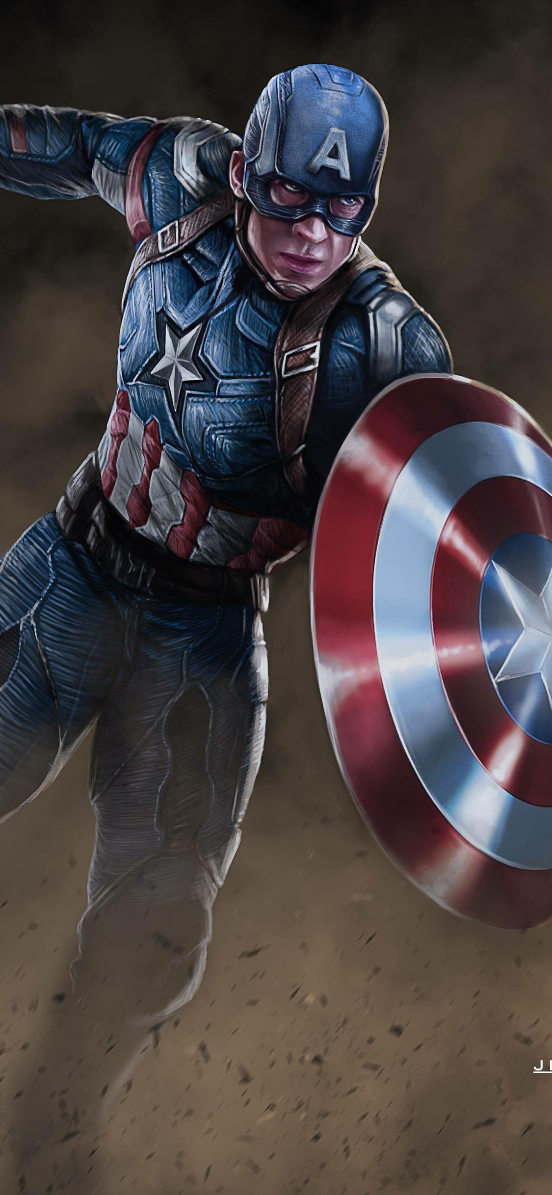 1125x2436 Arts Captain America New Iphone Xsiphone 10iphone X Hd
