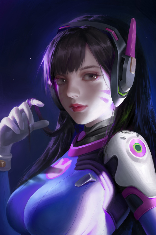 640x960 Artwork Dva Overwatch Iphone 4 Iphone 4s Hd 4k Wallpapers