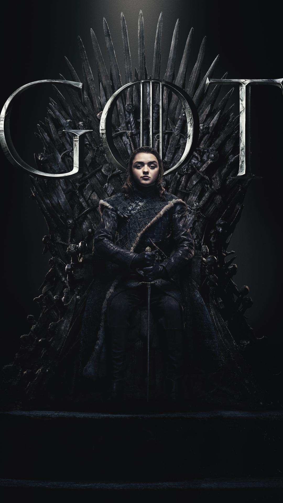 1080x1920 Arya Stark Game Of Thrones Season 8 Poster Iphone 76s6