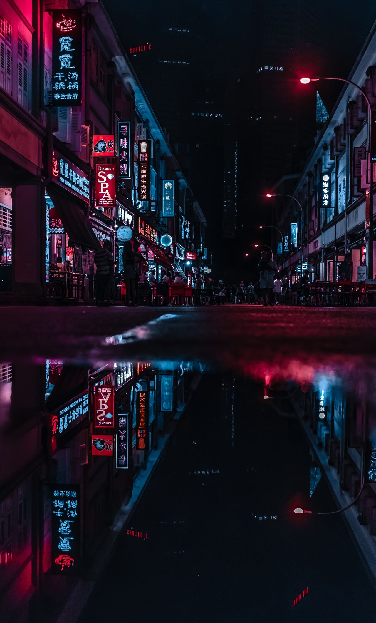 Neon Wallpaper City