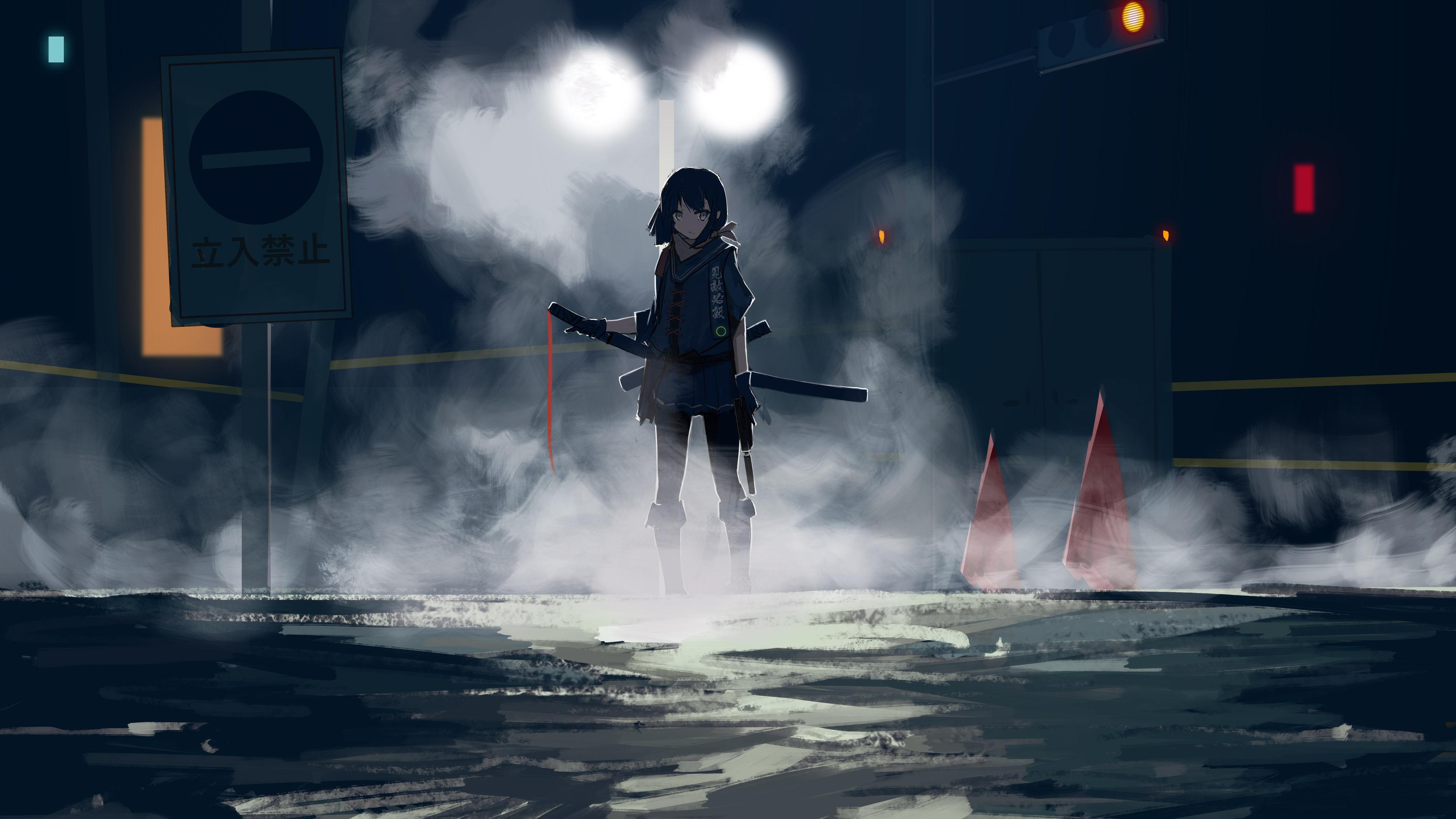 3840x2160 Assassin Anime Girl With Sword 4k HD 4k ...