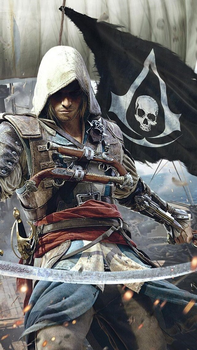 640x1136 Assassins Creed 4 Black Flag Iphone 5 5c 5s Se Ipod