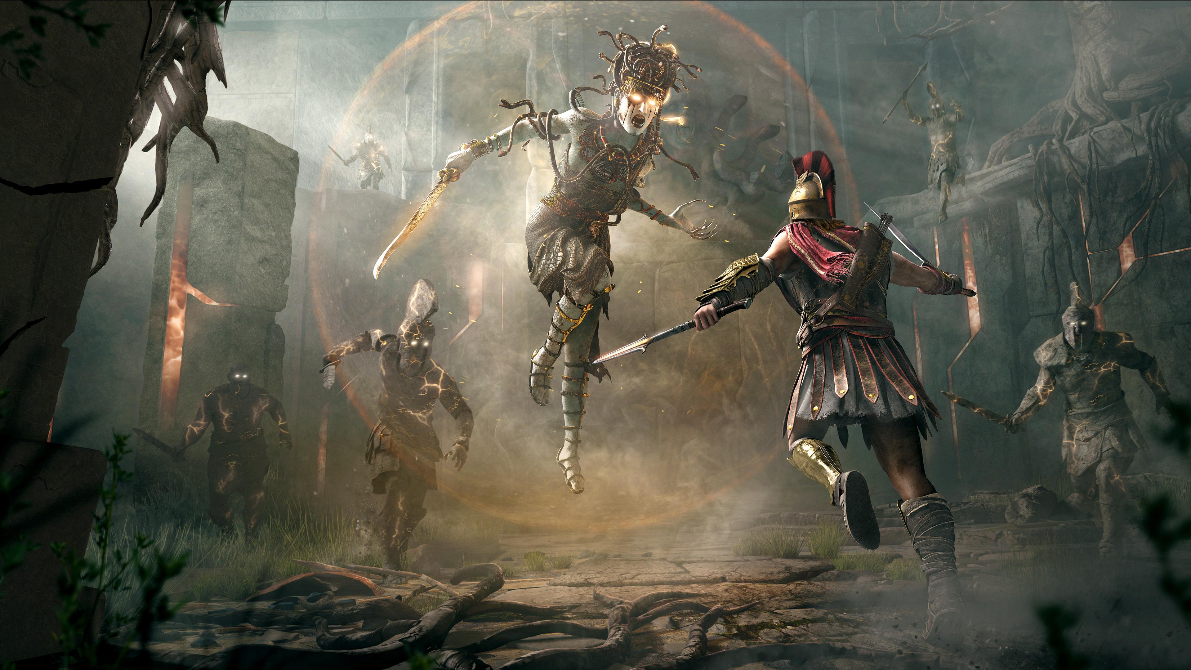 3840x2160 Assassins Creed Odyssey Fight 4k 4k Hd 4k Wallpapers