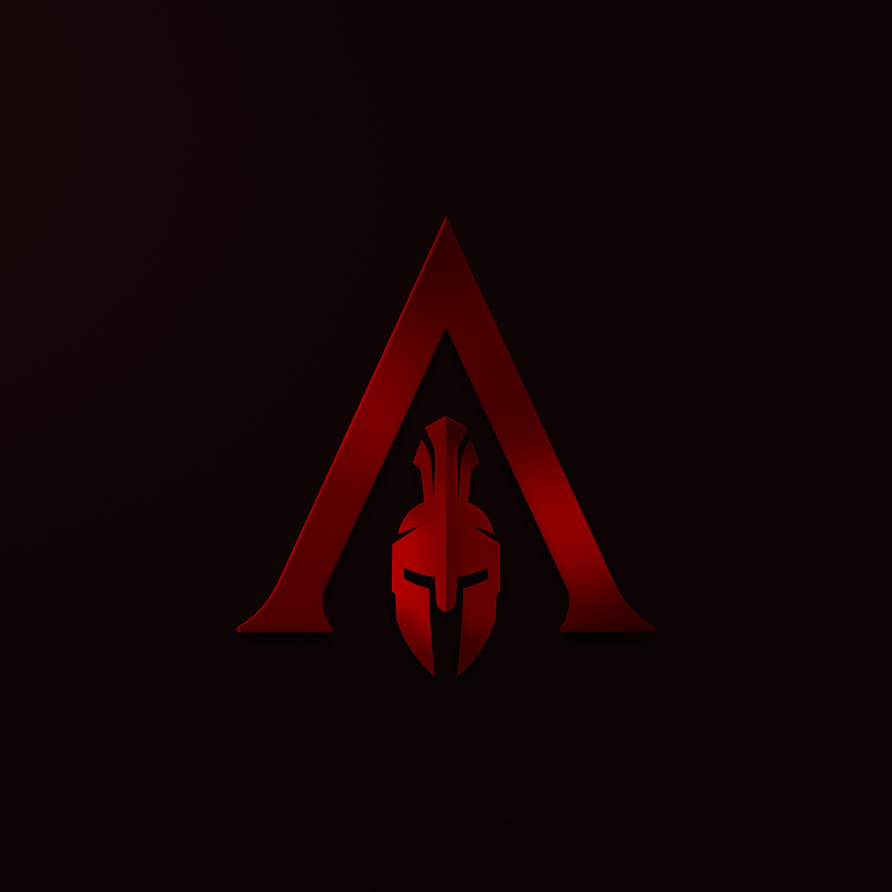 2932x2932 Assassins Creed Odyssey Minimalism Logo 4k Ipad Pro