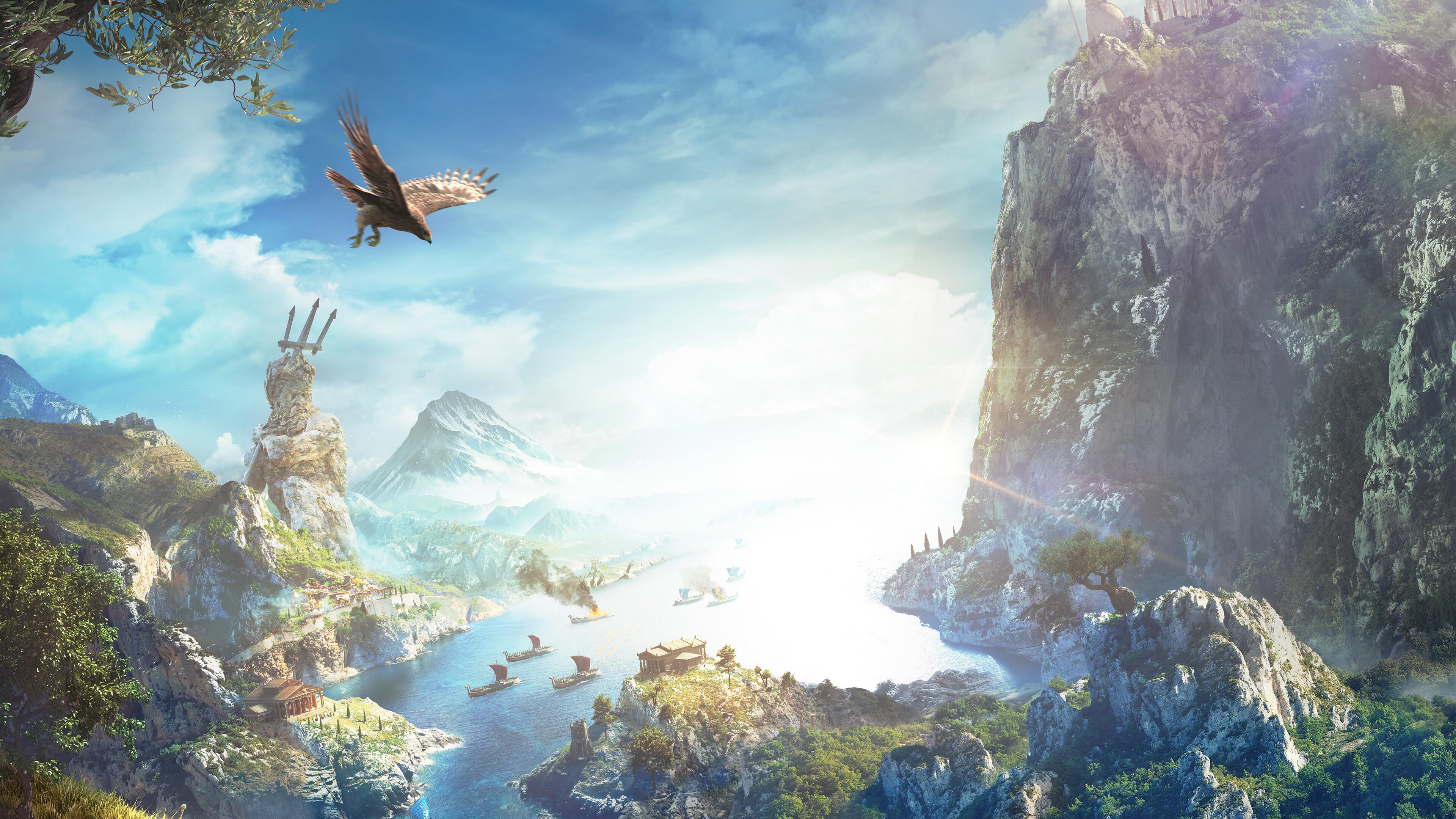 3840x2160 Assassins Creed Odyssey Nature Background Key Art 4k 4k Hd