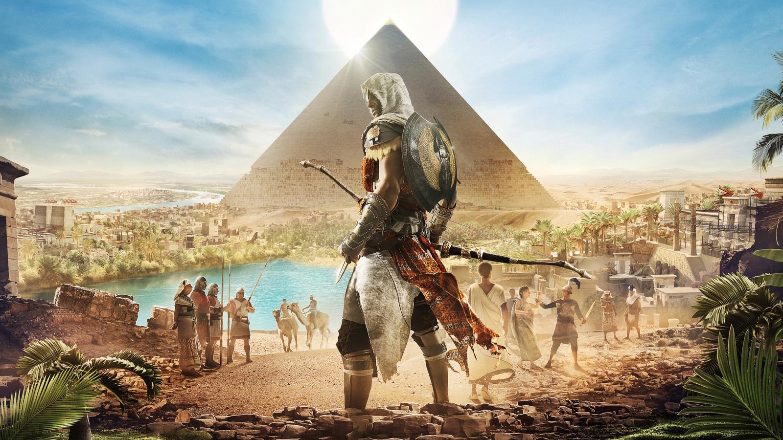 1600x900 Assassins Creed Origins Bayek 4k 1600x900