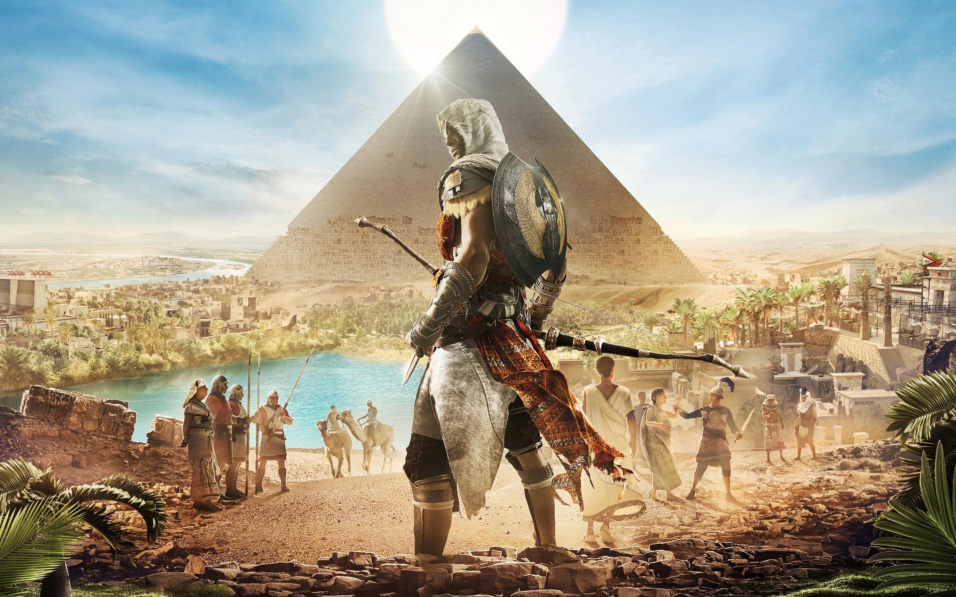 1920x1200 Assassins Creed Origins Bayek 4k 1080P