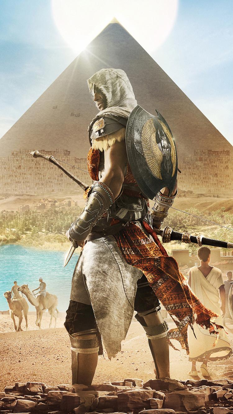 750x1334 Assassins Creed Origins Bayek 4k Iphone 6 Iphone 6s