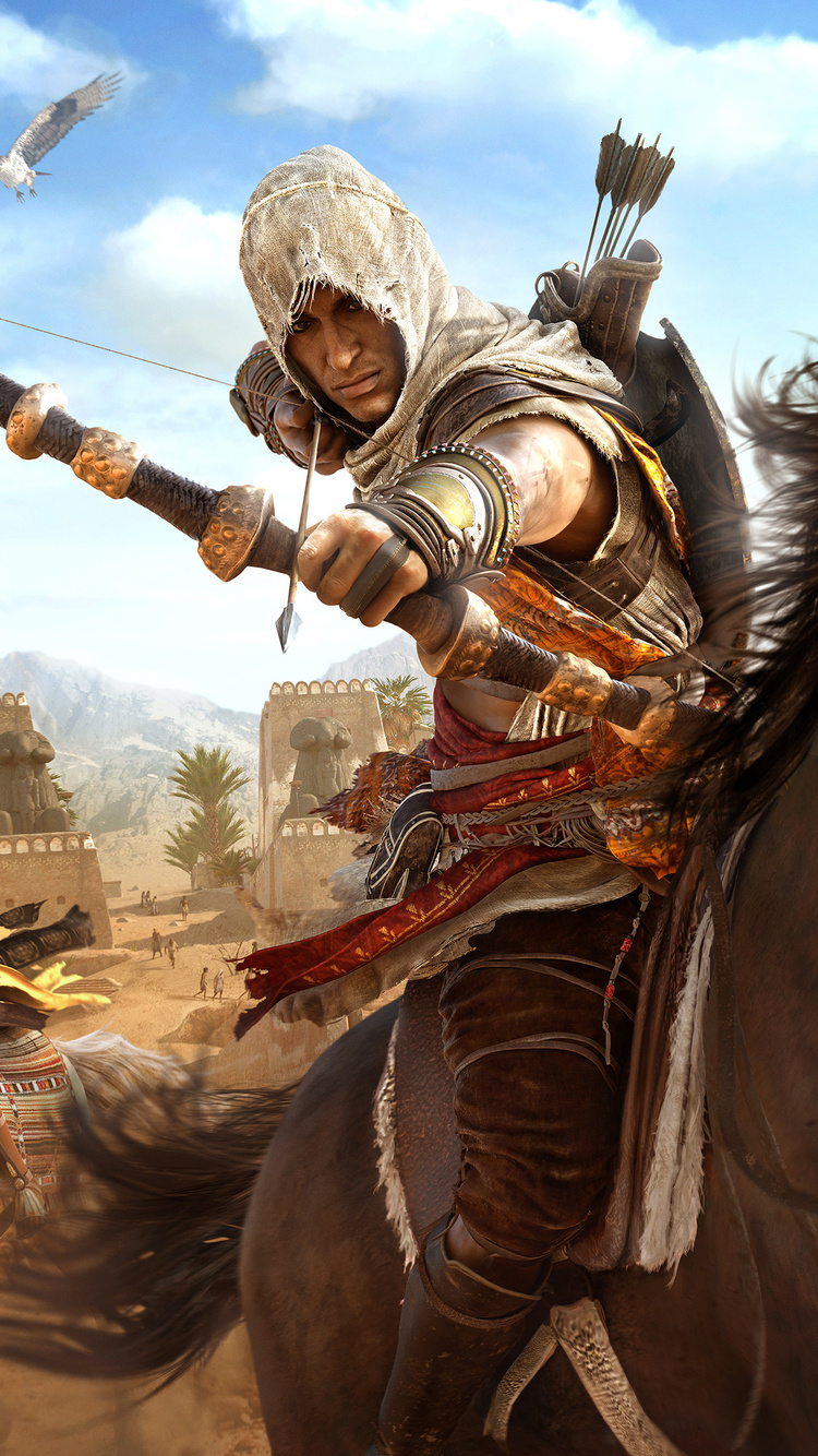 750x1334 Assassins Creed Origins Bayek And Aya 4k Iphone 6 Iphone 6s Iphone 7 Hd 4k Wallpapers Images Backgrounds Photos And Pictures
