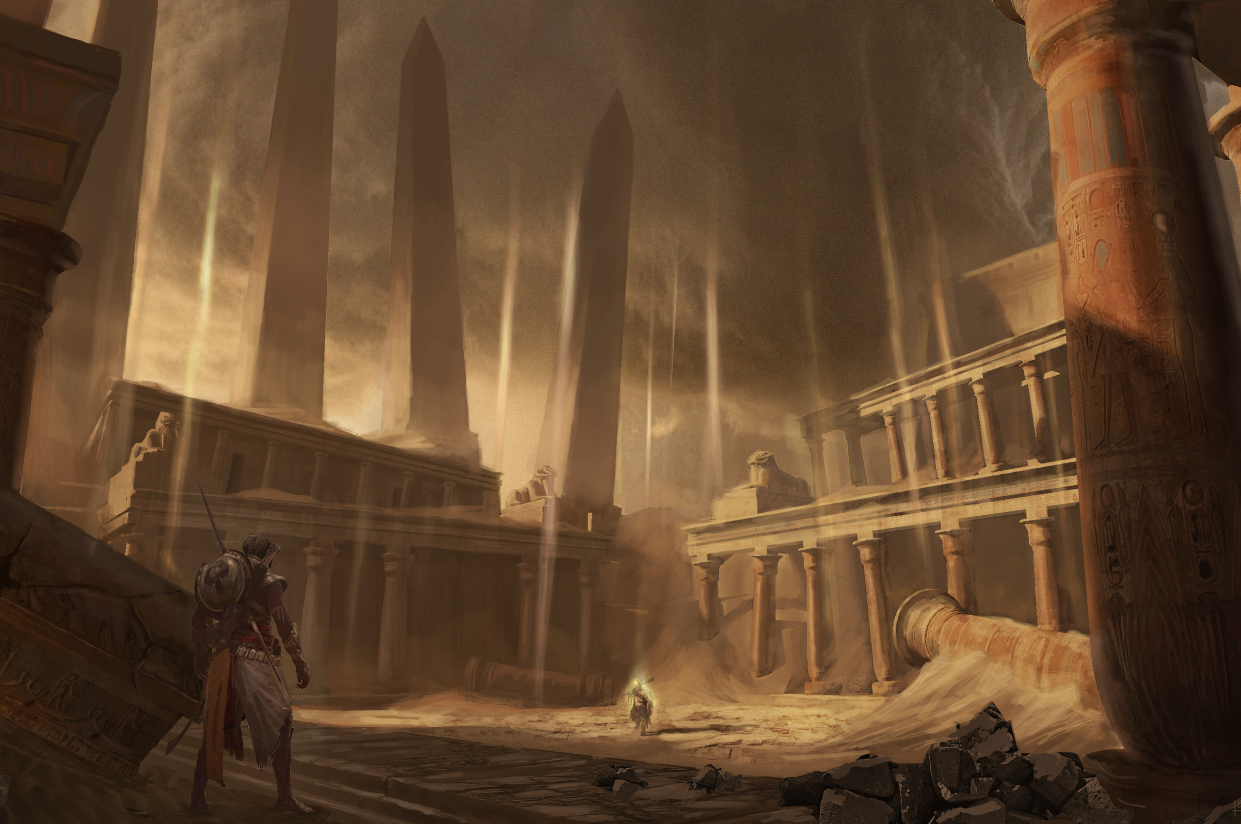 2560x1700 Assassins Creed Origins Concept Art 5k Chromebook Pixel