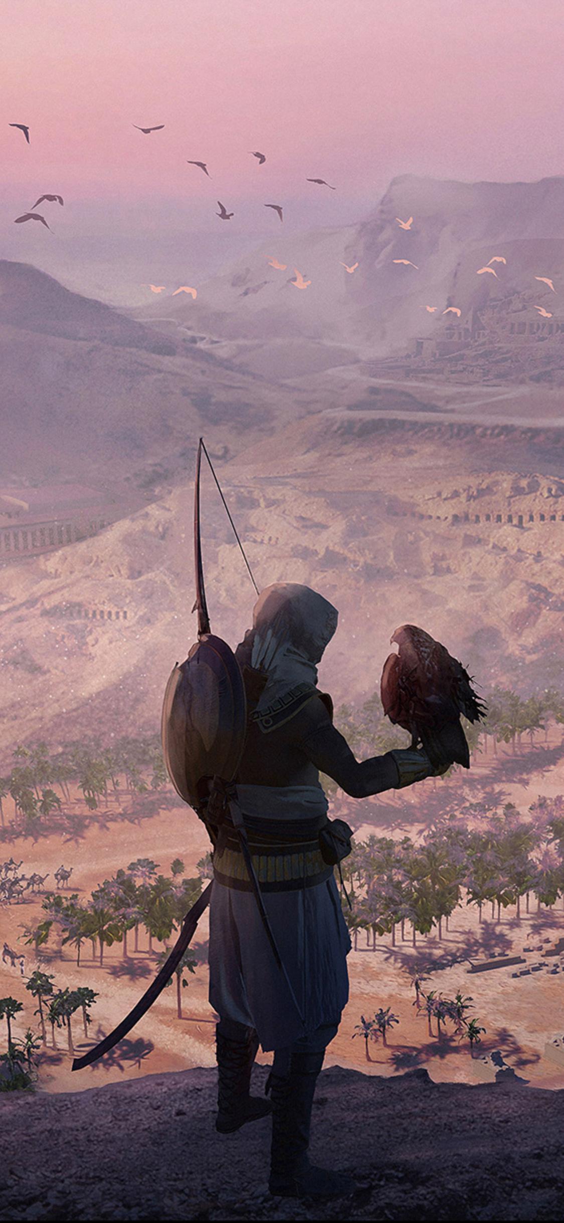 1125x2436 Assassins Creed Origins Game Artwork Iphone Xs Iphone 10