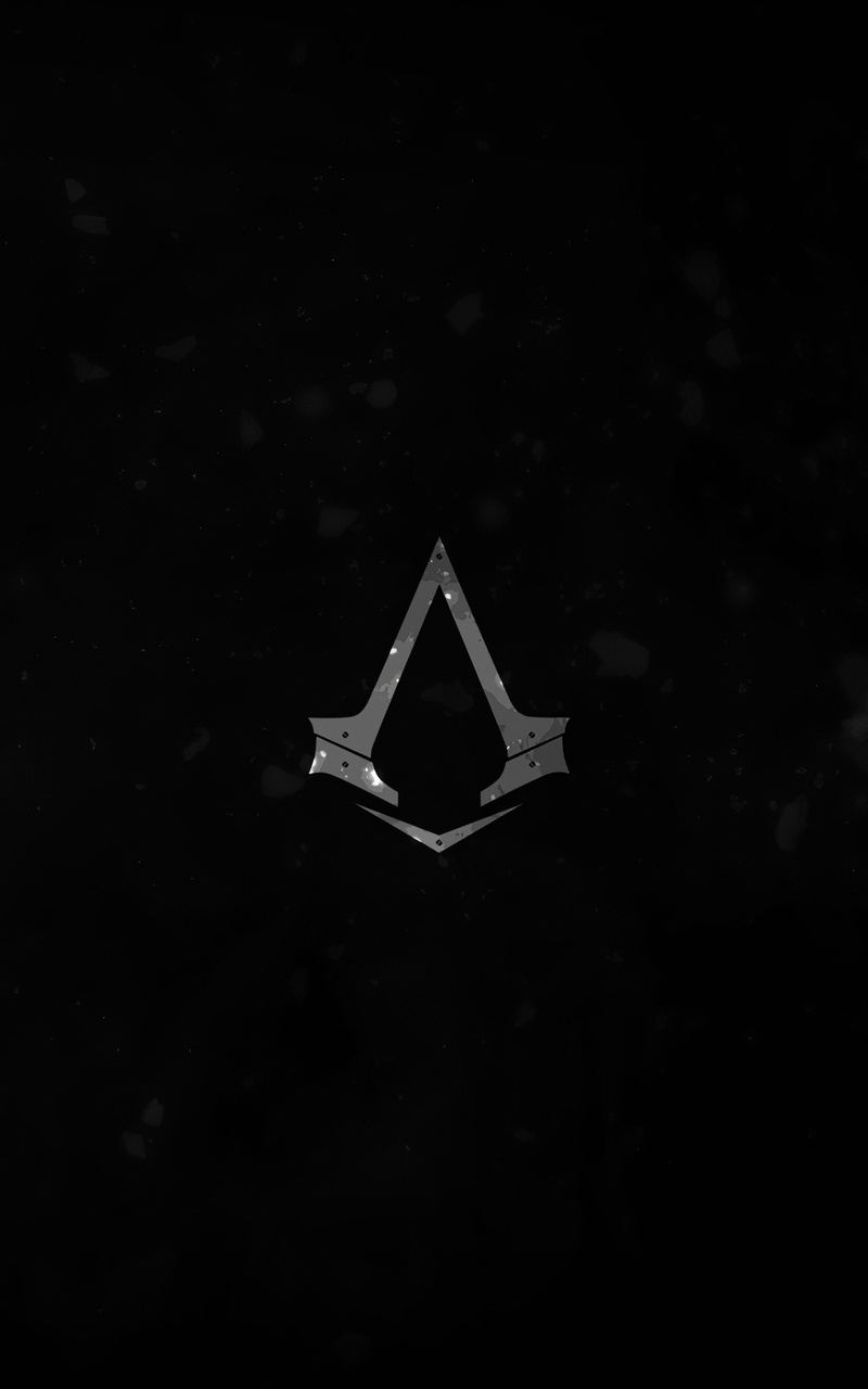 assassins creed syndicate logo dark 4k ax
