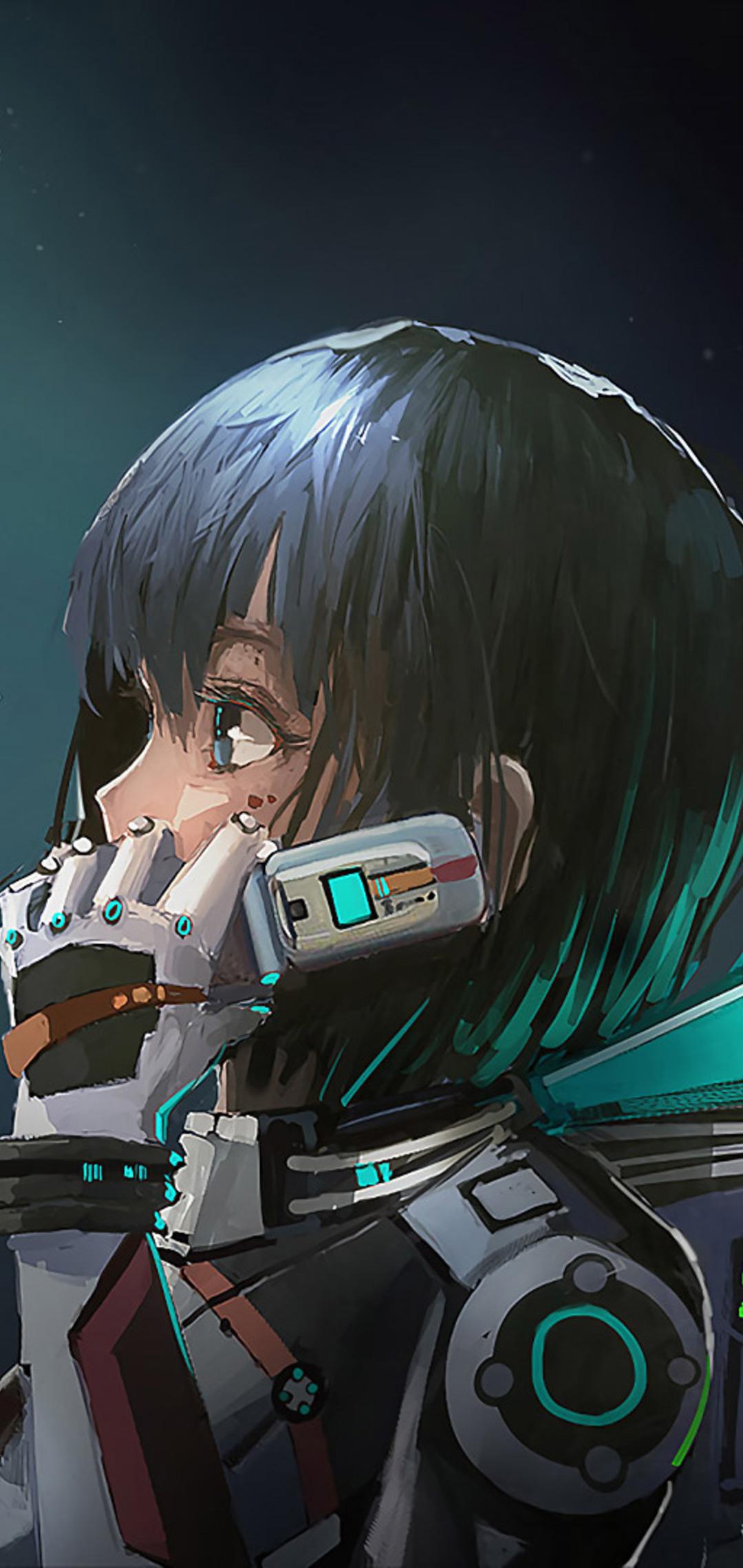 1080x2280 Astronaut Anime Girl One Plus 6 Huawei P20 Honor View 10