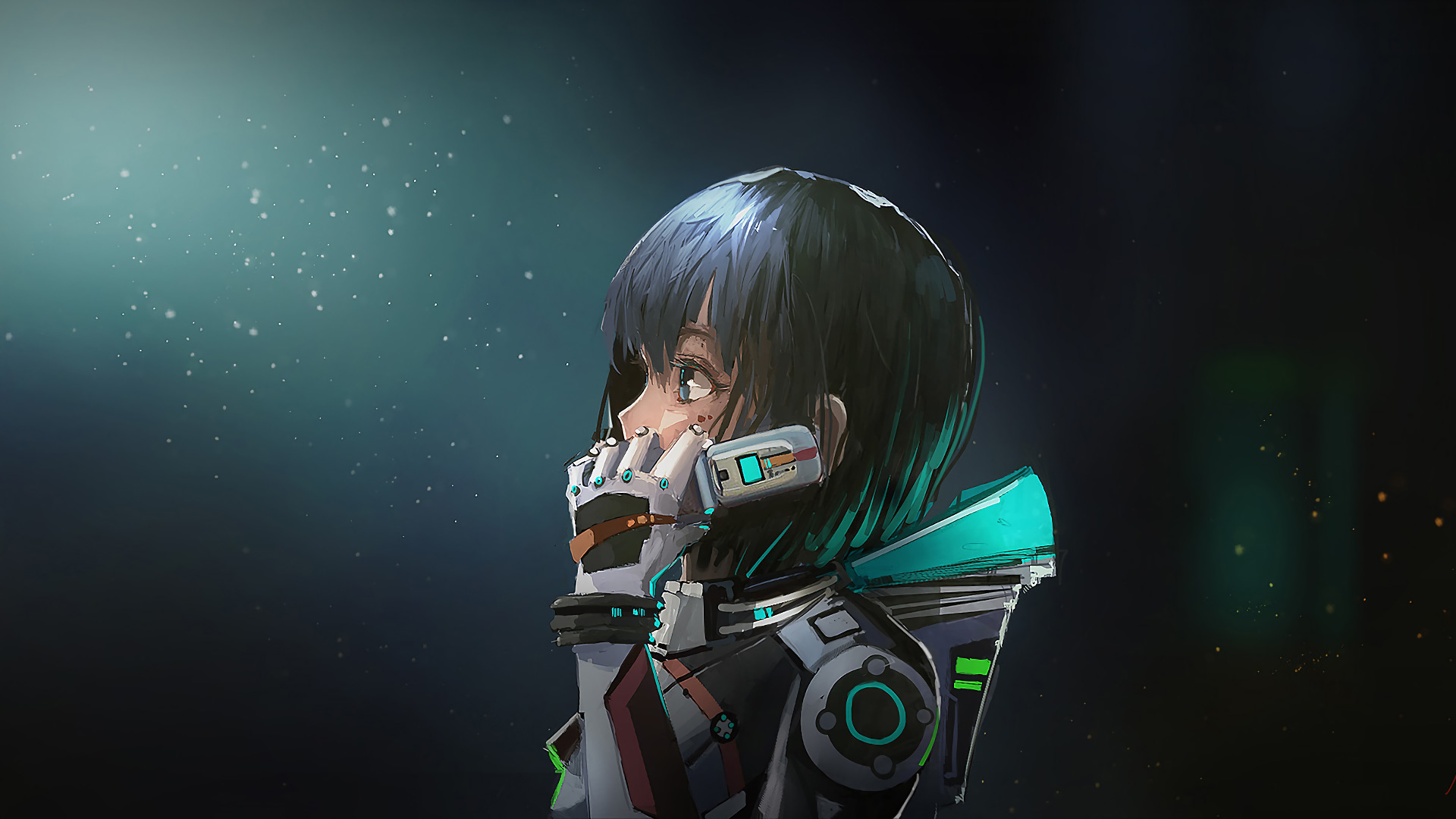 3840x2160 astronaut anime girl 4k hd 4k wallpapers images - Anime 4k hd wallpapers ...