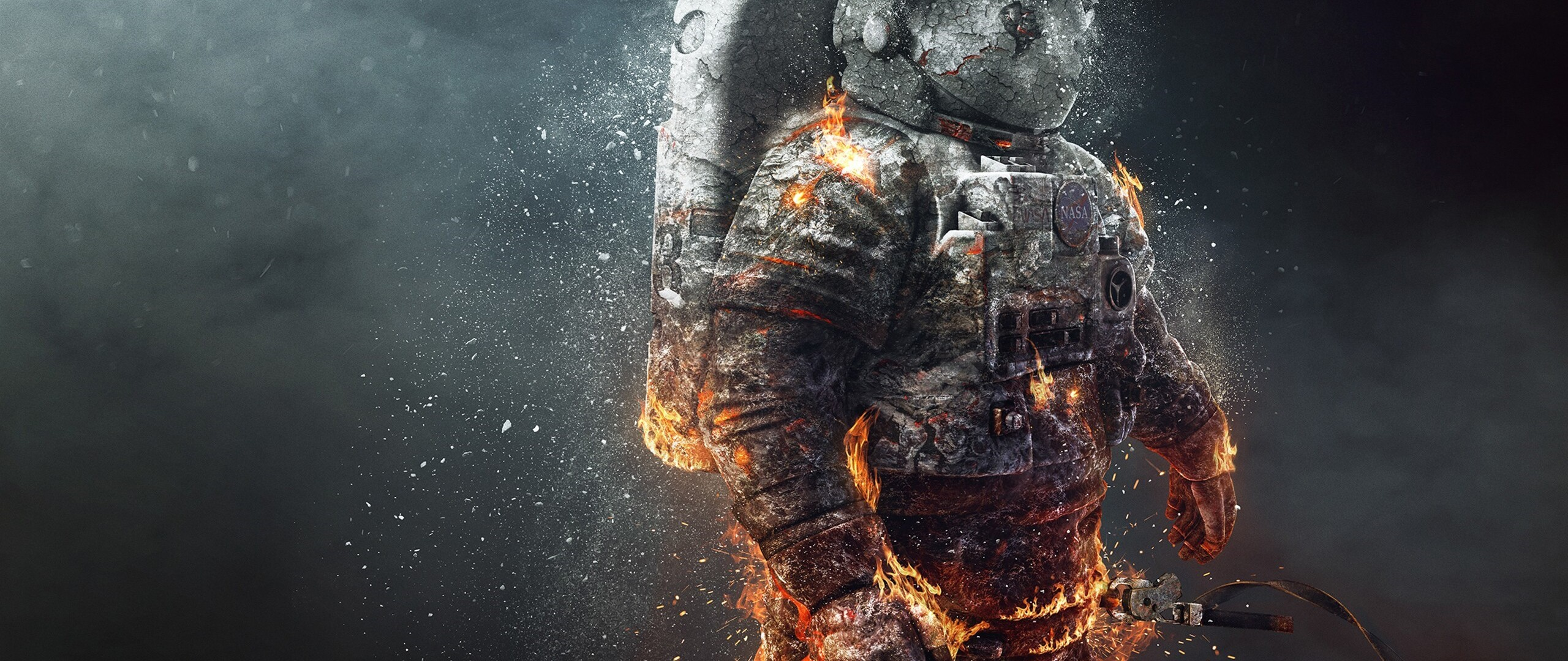 astronaut on fire - HD2560×1080