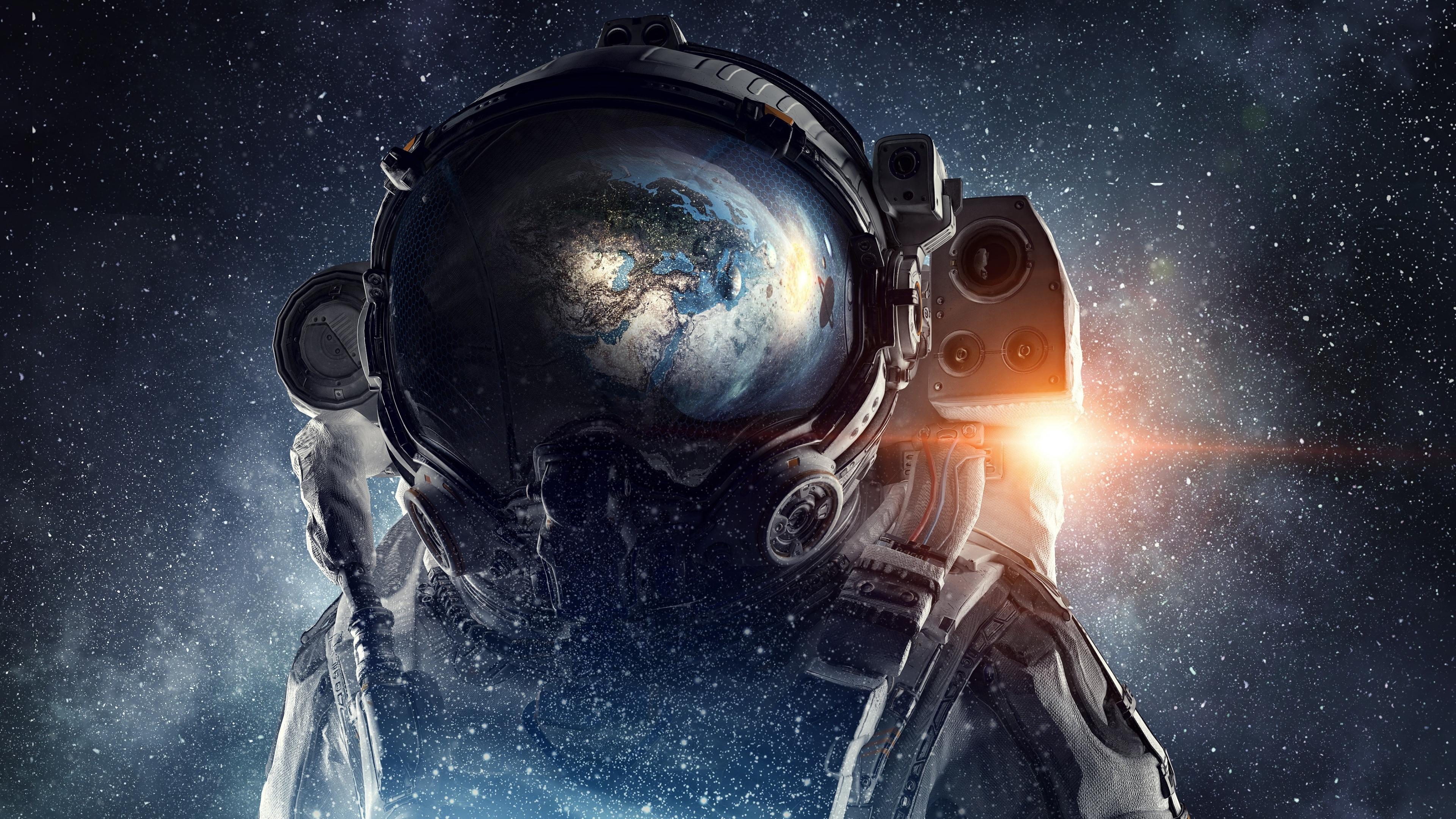 3840x2160 Astronaut Galaxy Space Stars Digital Art 4k 4k Hd