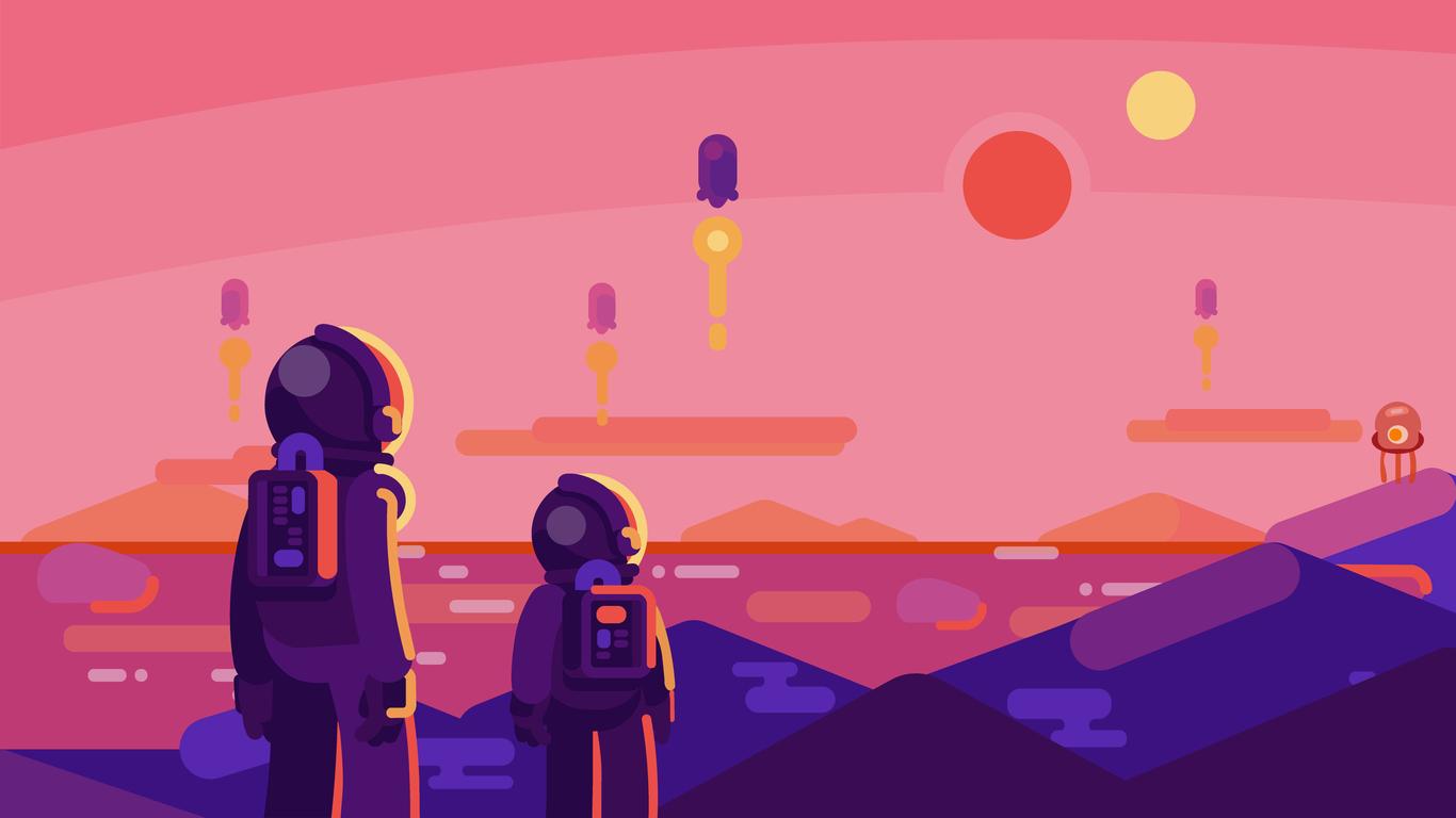 astronaut landscape 4k 5v