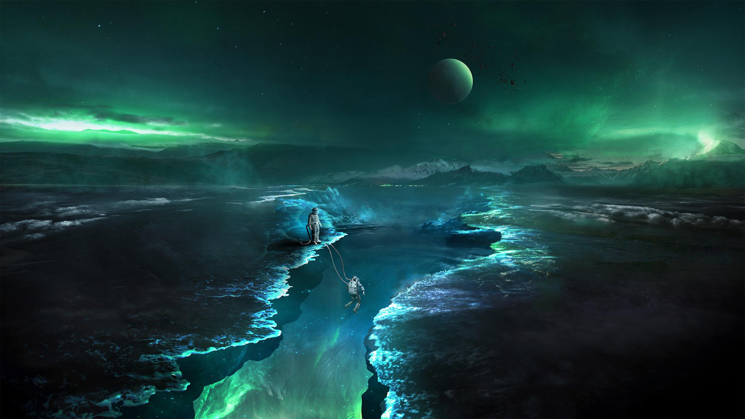 astronaut space digital art fantasy