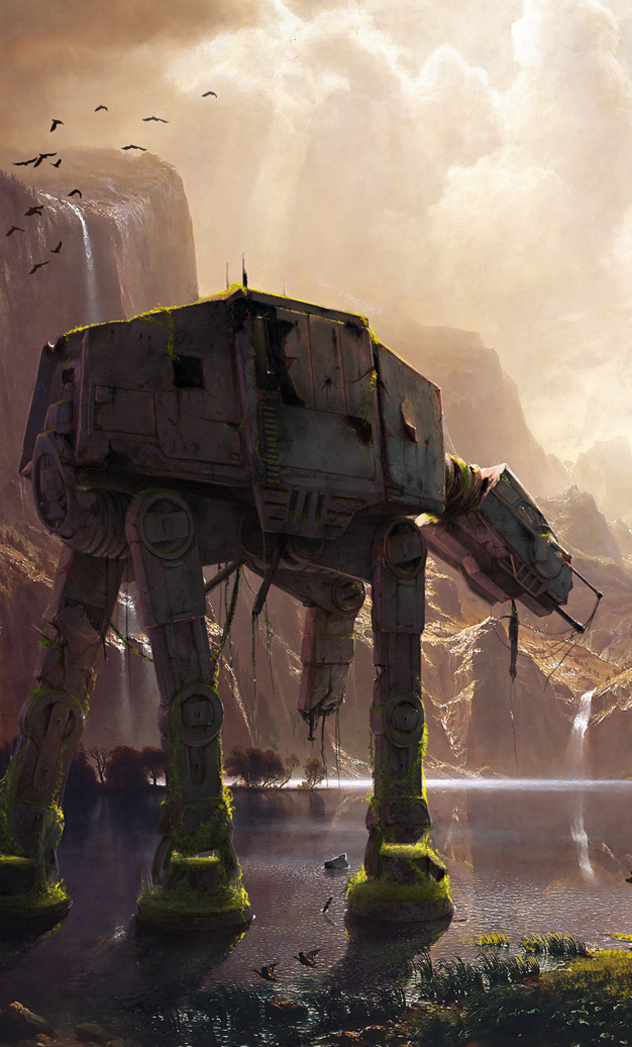 1280x2120 At At Walker Star Wars Artwork Iphone 6 Hd 4k Wallpapers Images Backgrounds Photos And Pictures