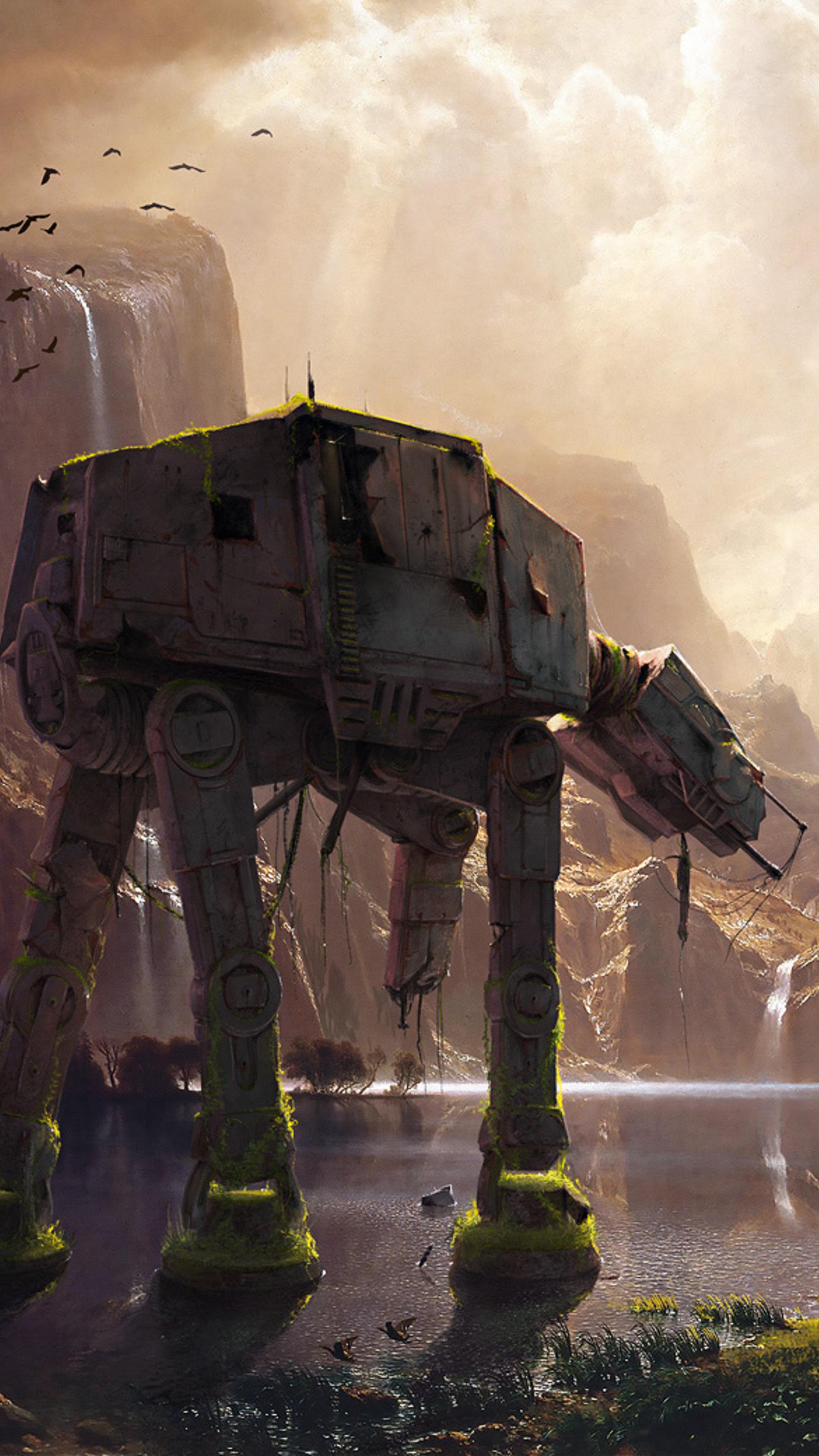 2160x3840 at at walker star wars artwork sony xperia x xz - Art wallpaper 2160x3840 ...