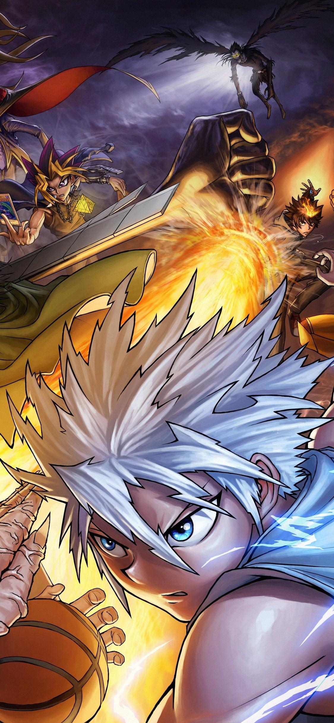 1125x2436 Atemu Bleach Crossover Dragonball Naruto Iphone Xs
