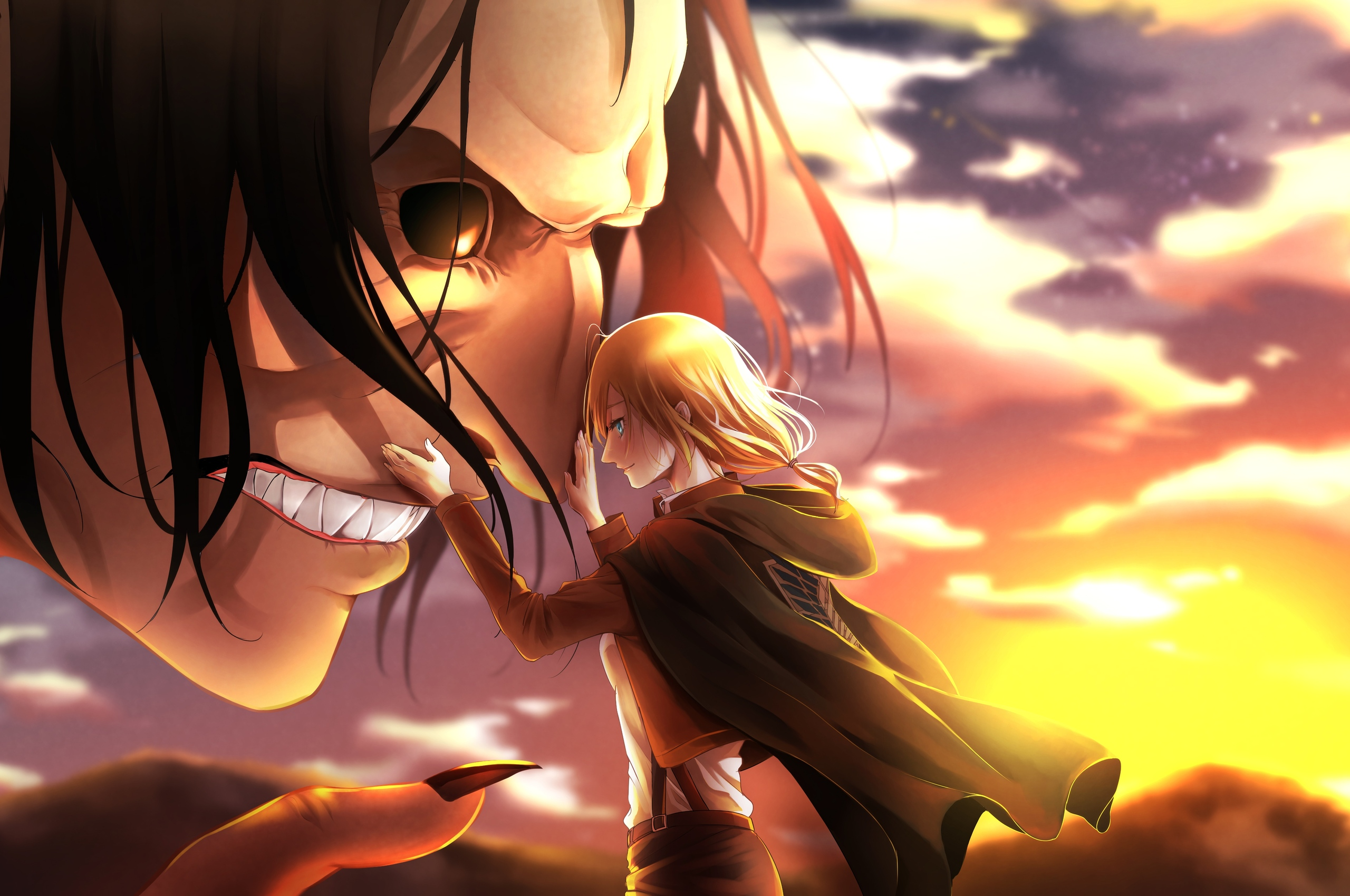 2560x1700 Attack On Titan Mina Carolina Chromebook Pixel Hd 4k Wallpapers Images Backgrounds Photos And Pictures