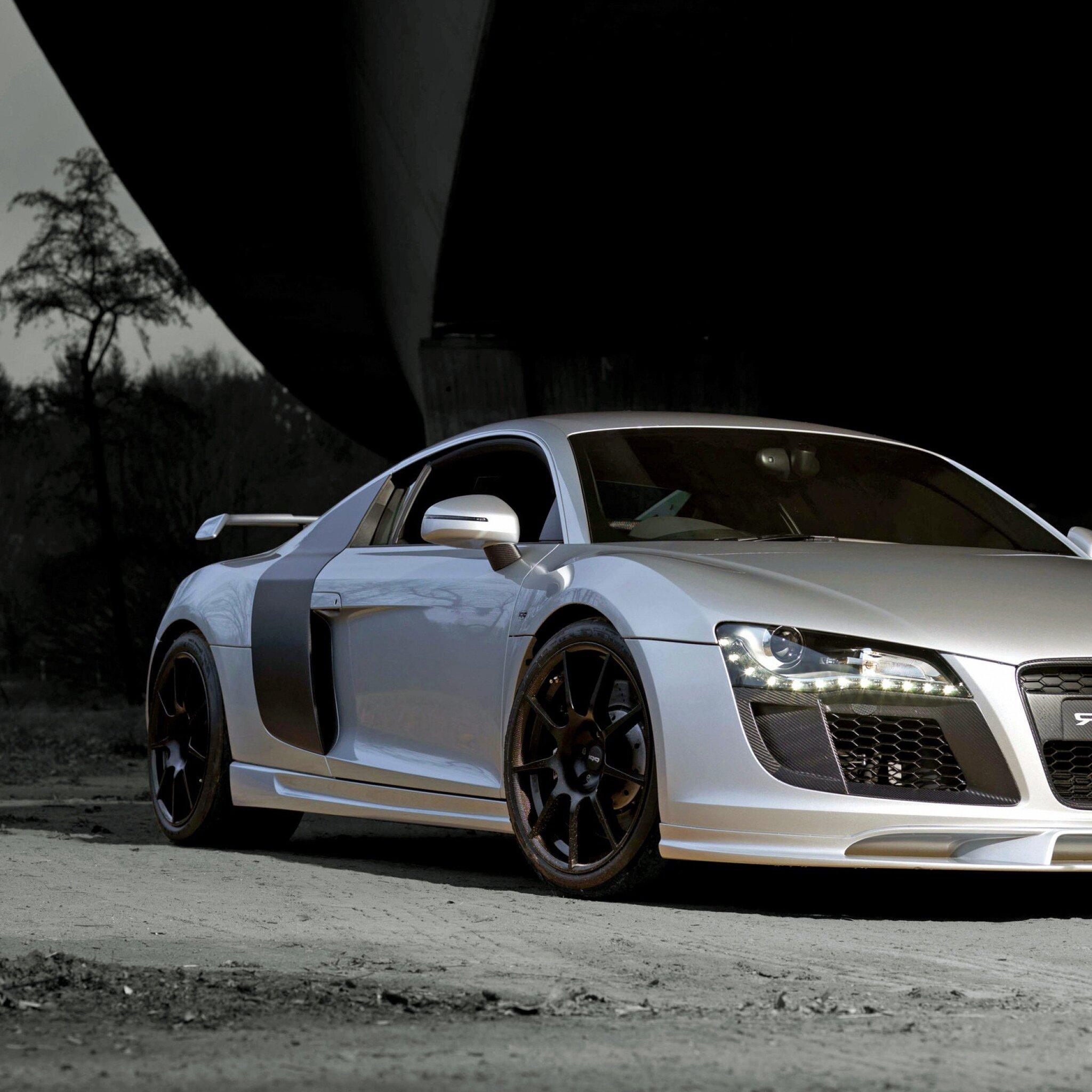 Audi Car Wallpaper: 2048x2048 Audi R8 Silver Ipad Air HD 4k Wallpapers, Images