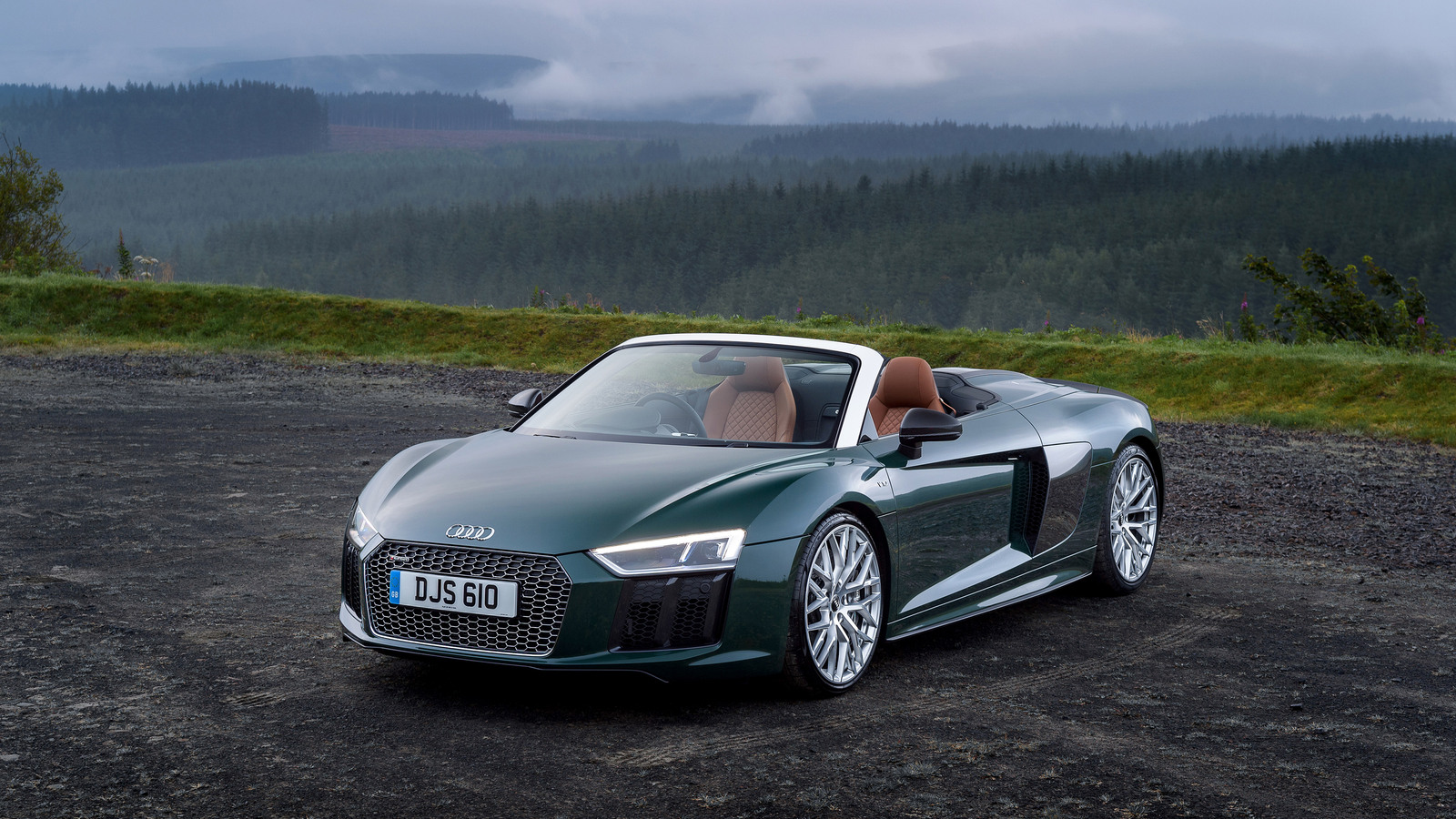 1600x900 audi r8 spyder v10 plus 2017 1600x900 resolution hd 4k