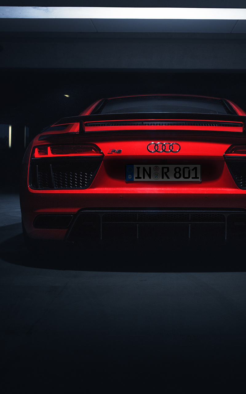 800x1280 Audi R8 V10 Plus 2018 Rear Look 4k Nexus 7 Samsung Galaxy Tab 10 Note Android Tablets Hd 4k Wallpapers Images Backgrounds Photos And Pictures