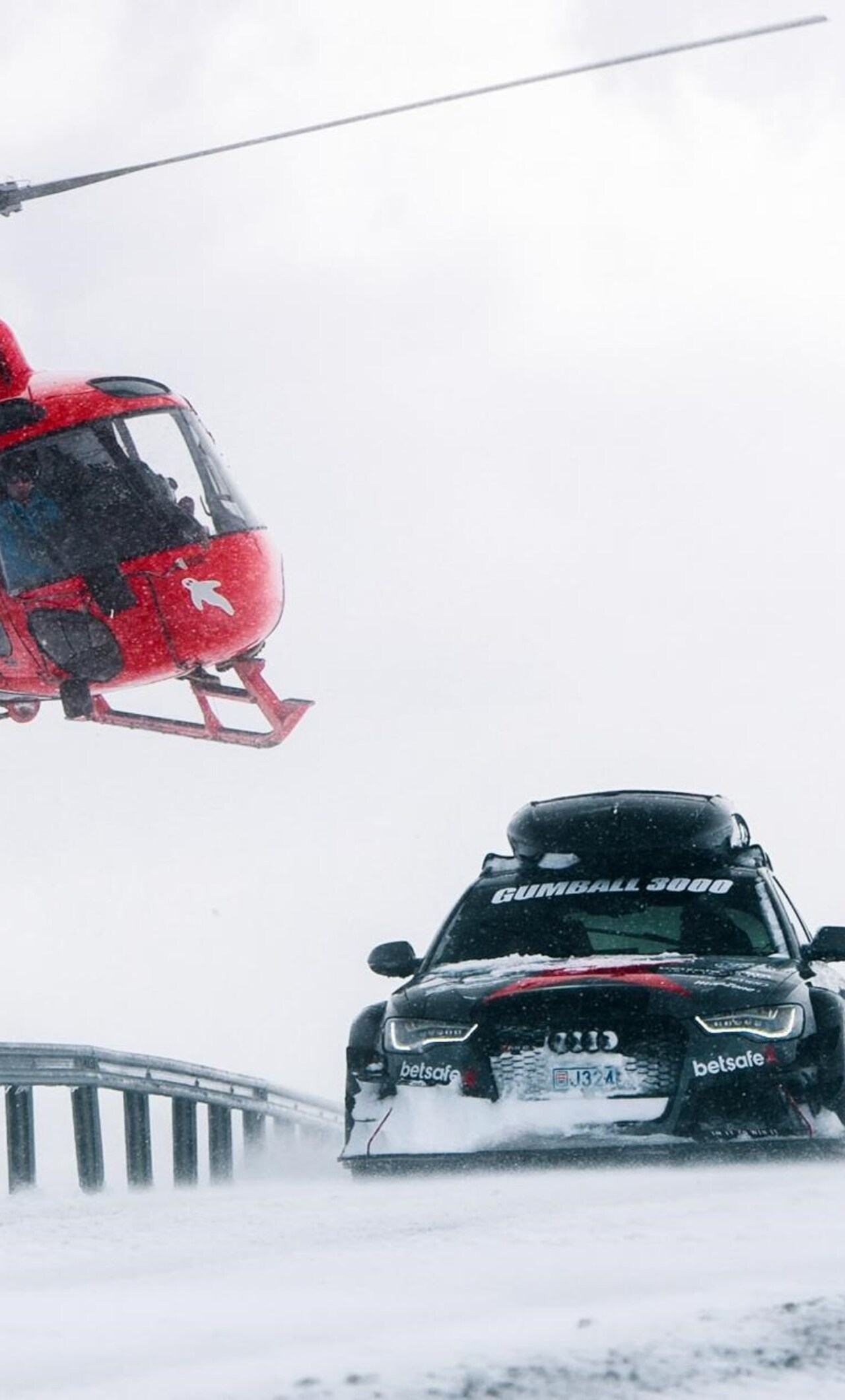 Audi Rs6 Snow Racing Image