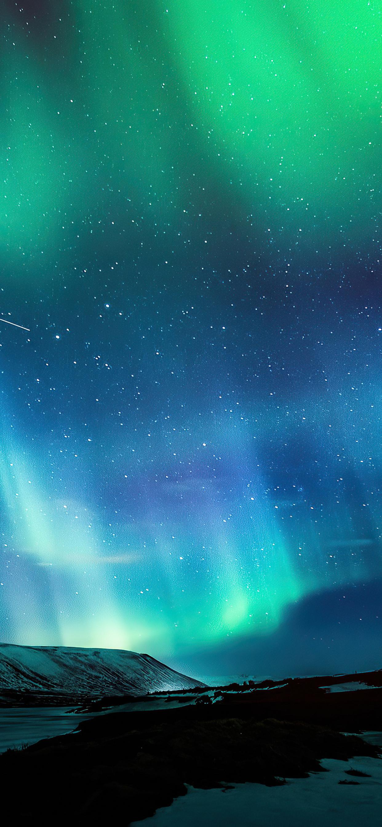 1242x2688 Aurora Borealis Northern Lights 4k Iphone XS MAX ...