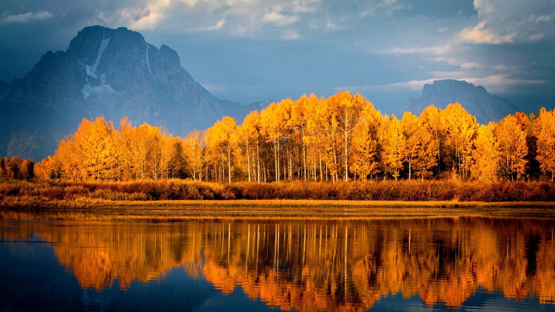 1920x1080 Autumn Trees On Lake Laptop Full HD 1080P HD 4k ...