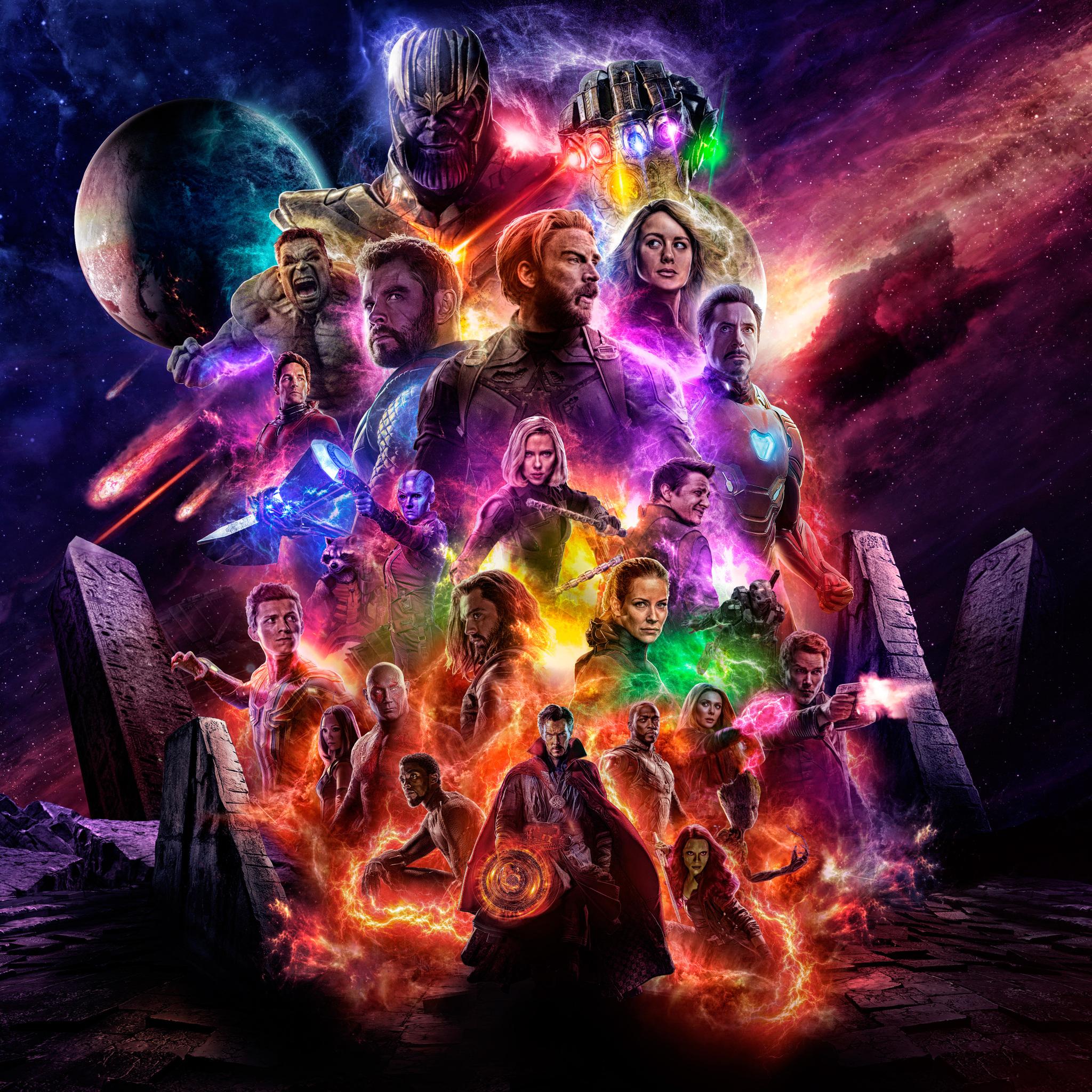 2048x2048 Avengers 4 Offical Poster Artwork 2019 5k Ipad