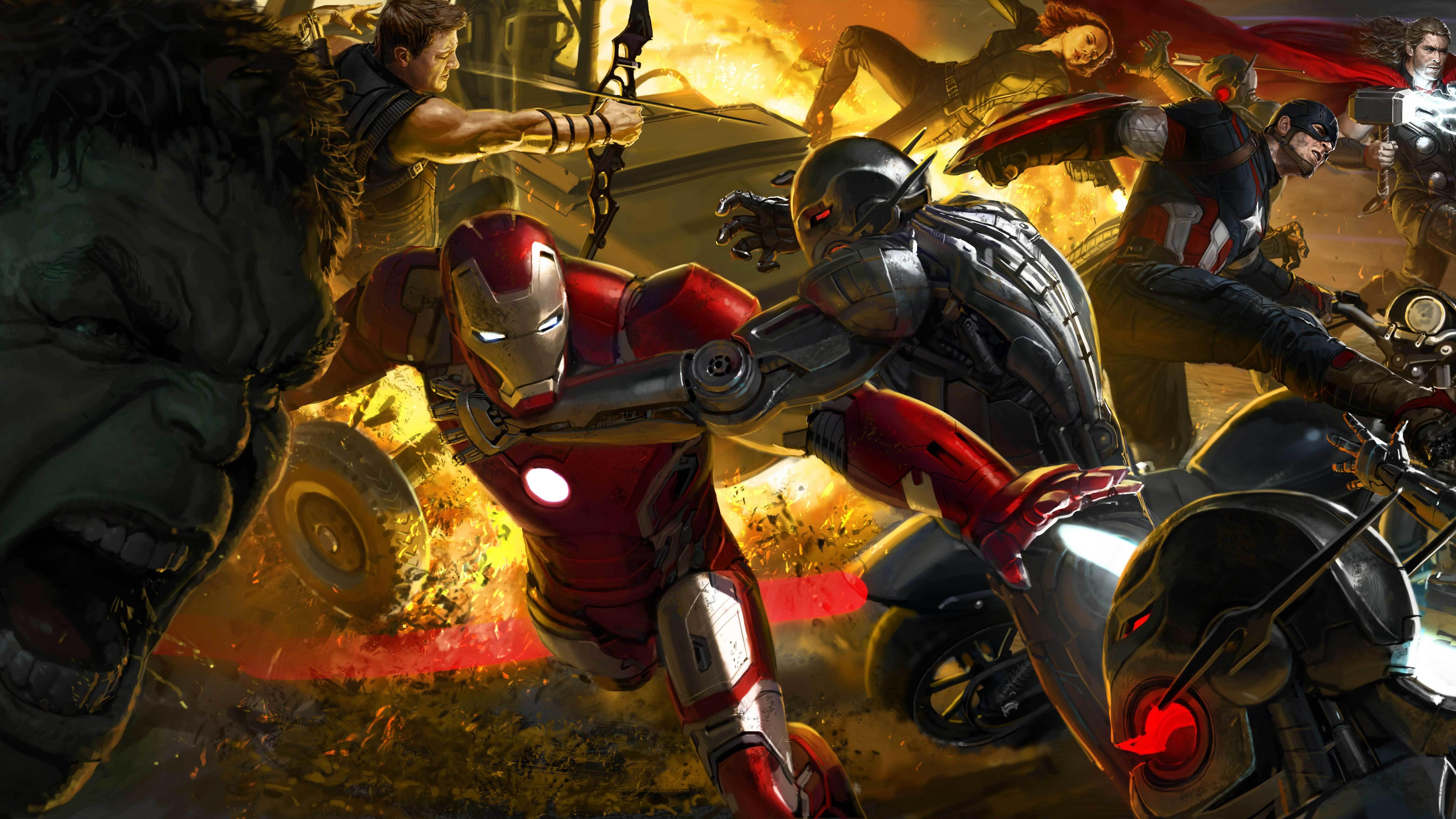 Avengers Age Of Ultron Artwork 8k Ox