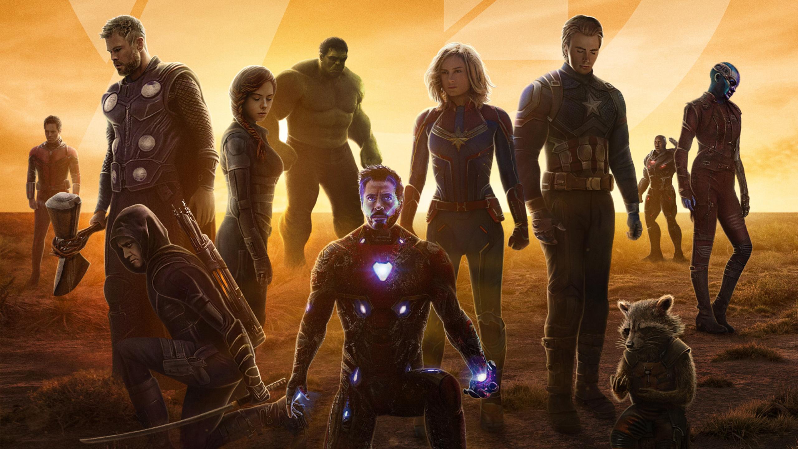 2560x1440 Avengers Endgame 2019 Movie 1440P Resolution HD ...
