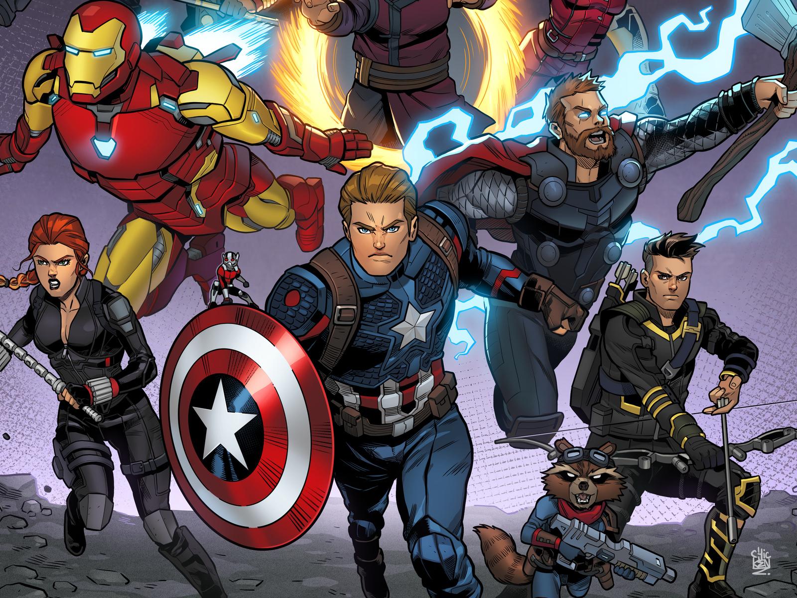 1600x1200 Avengers Endgame Final Fight 1600x1200 Resolution