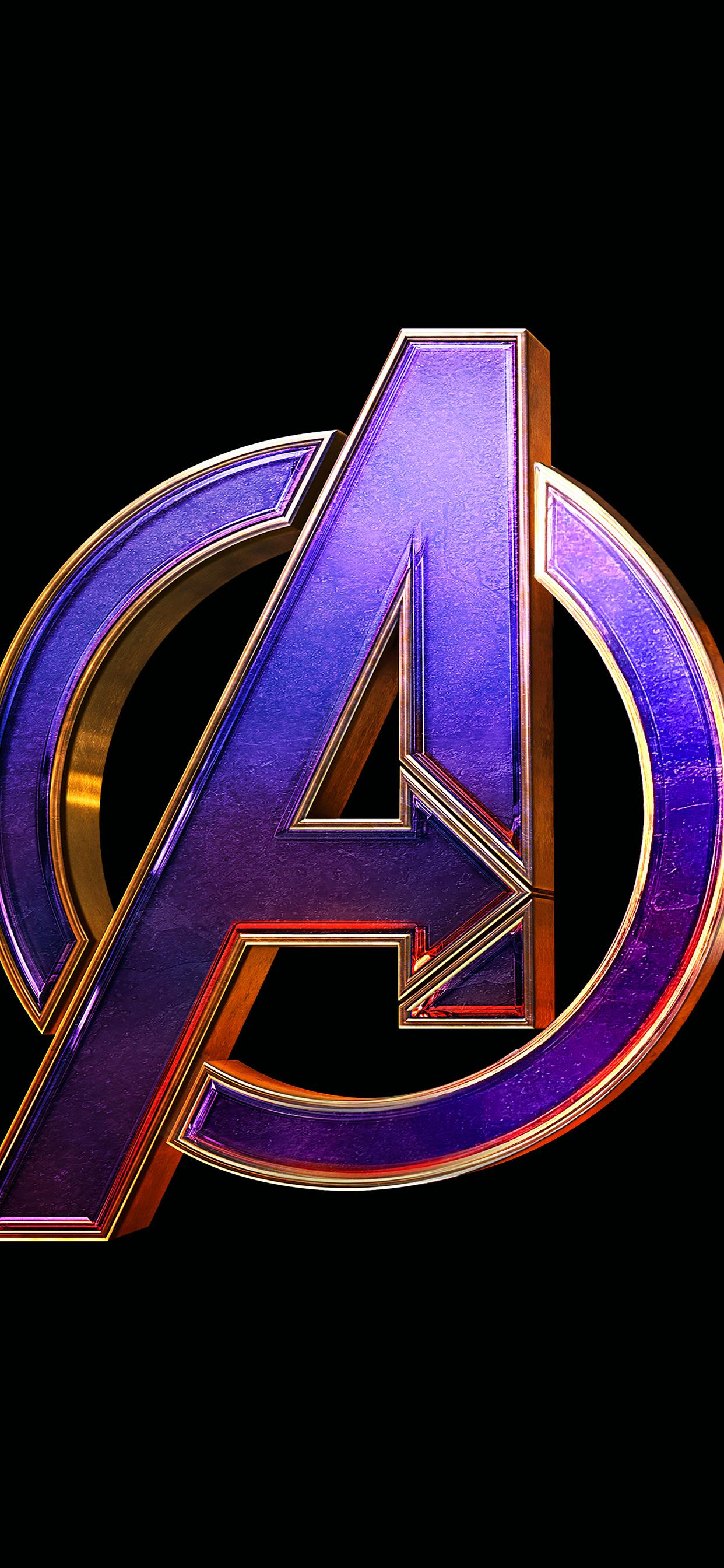 1242x2688 Avengers Endgame Logo 4k Iphone XS MAX HD 4k ...