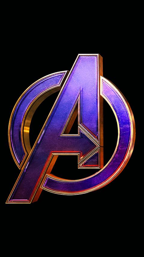 480x854 Avengers Endgame Logo 4k Android One HD 4k ...