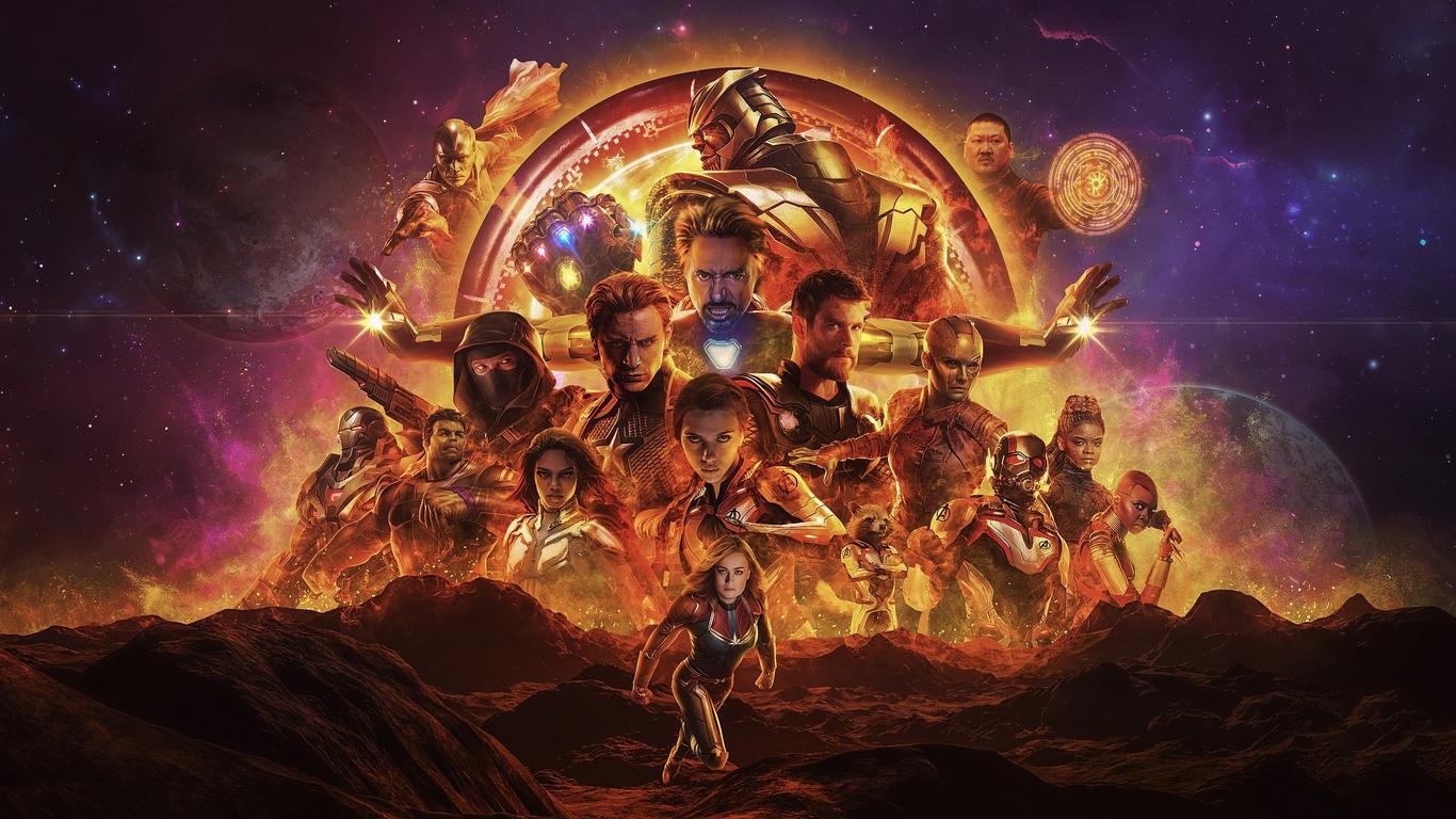 1366x768 Avengers Endgame New Poster 4k 1366x768 ...