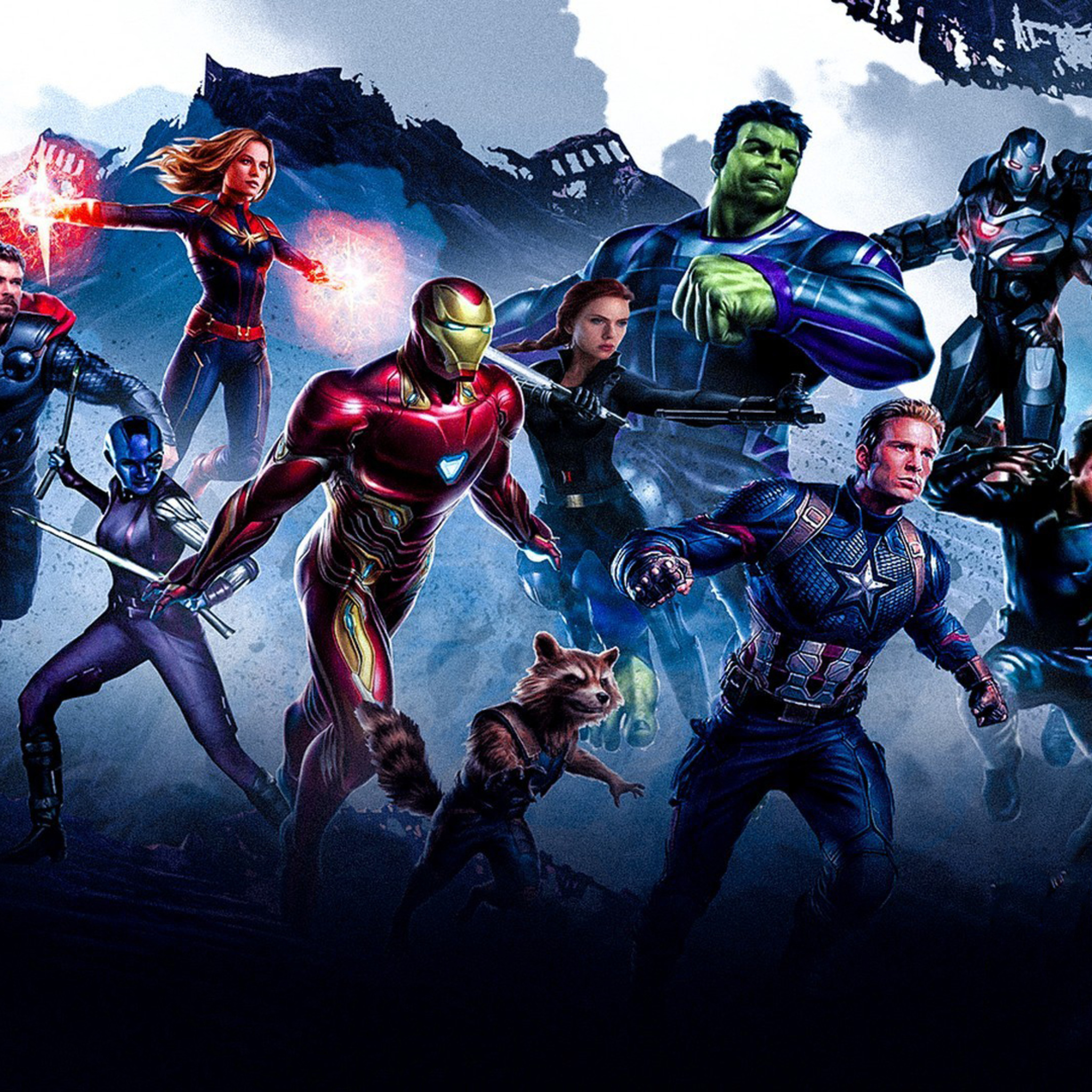 2048x2048 Avengers Endgame Poster Ipad Air HD 4k