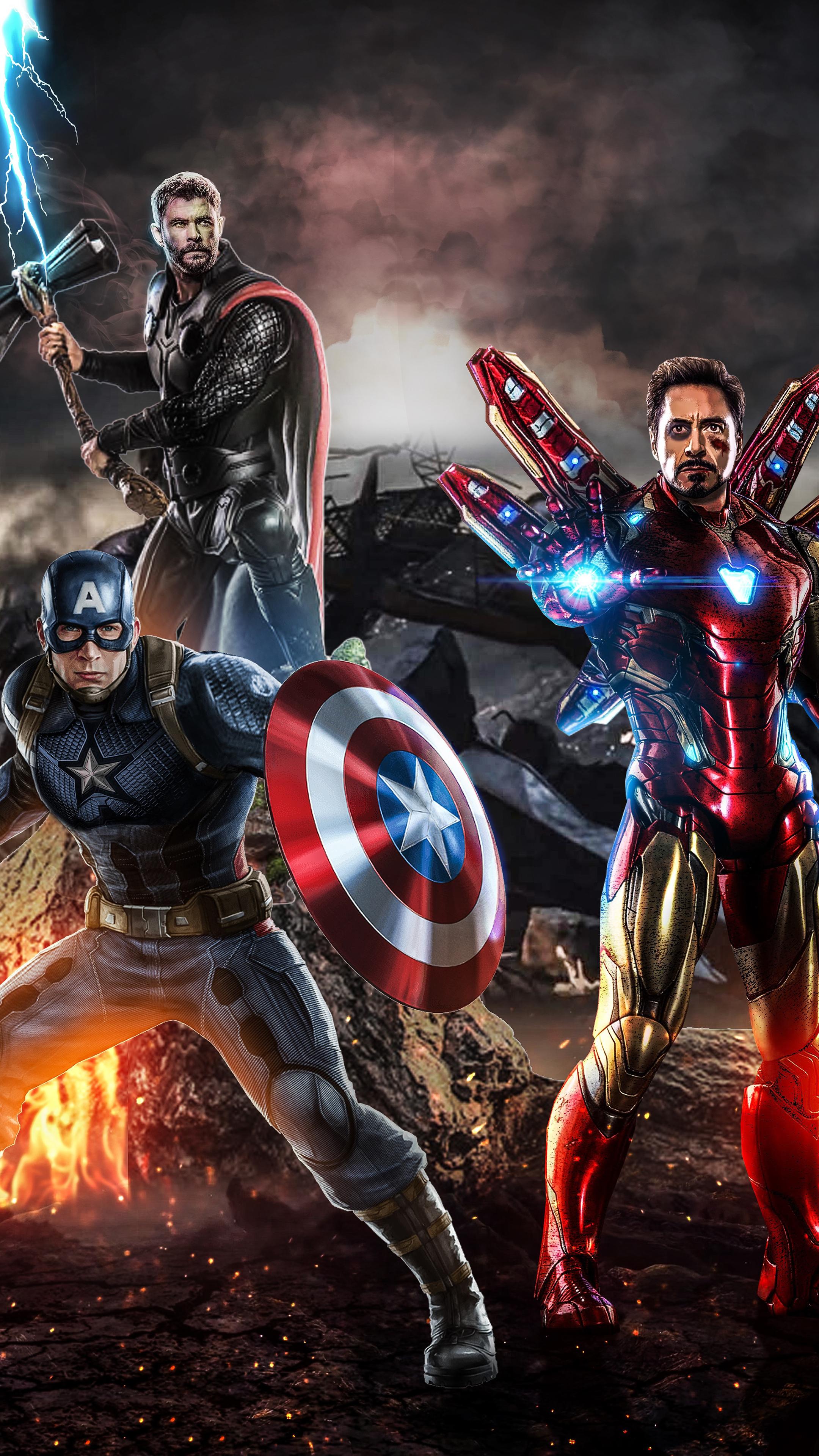 2160x3840 Avengers Endgame The Big Three Sony Xperia X,XZ ...