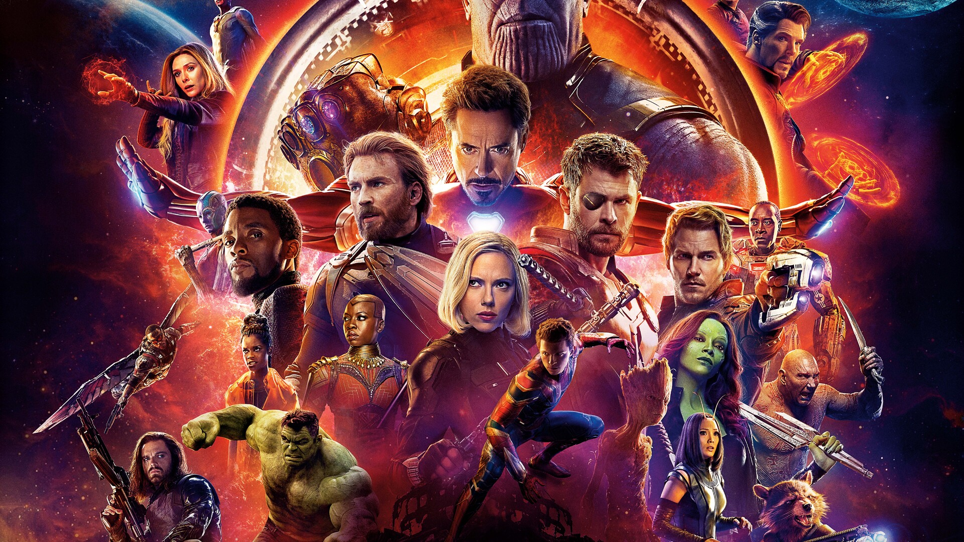 1920x1080 Avengers Infinity War 2018 10k Poster Laptop Full Hd 1080p