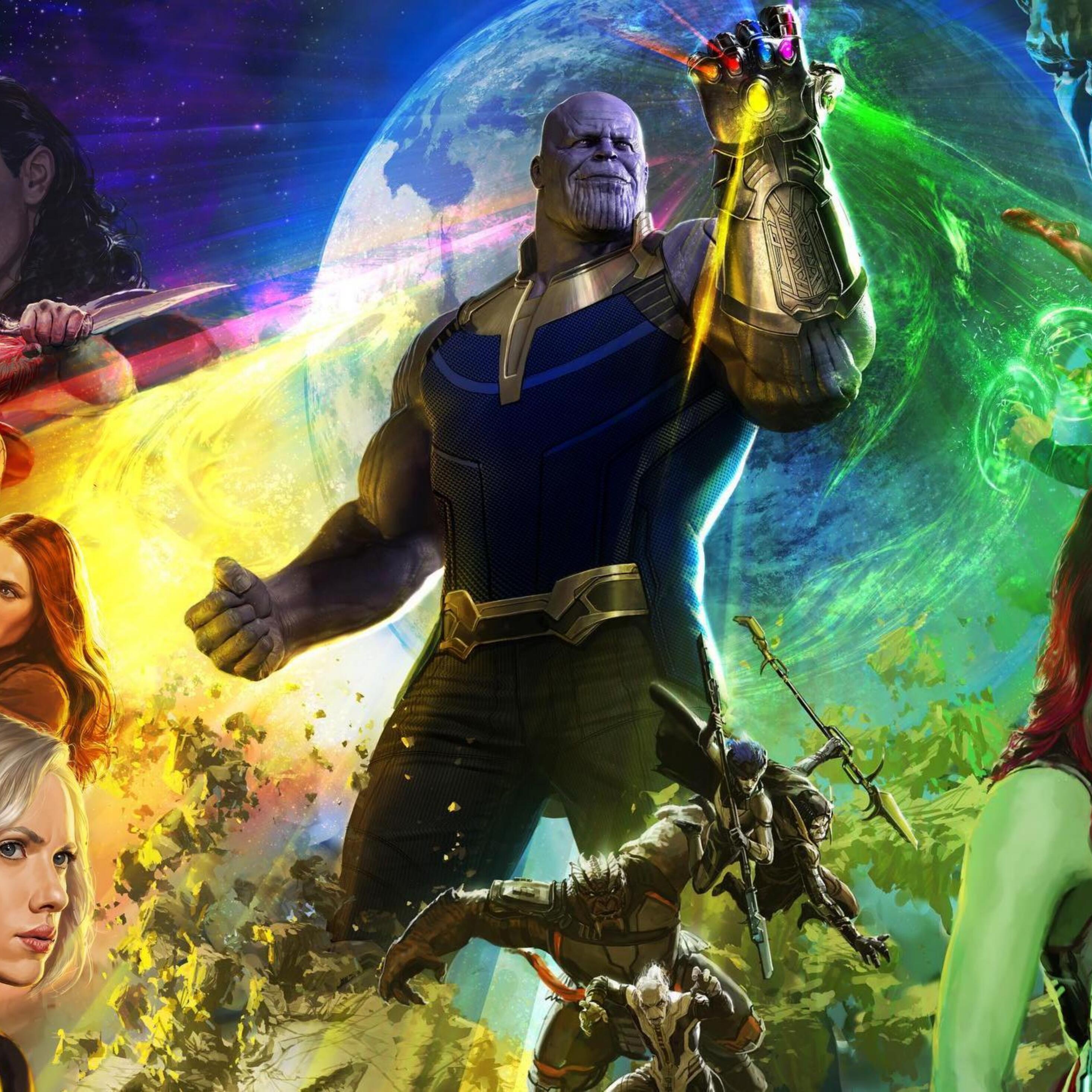 2932x2932 Avengers Infinity War 2018 4k Ipad Pro Retina