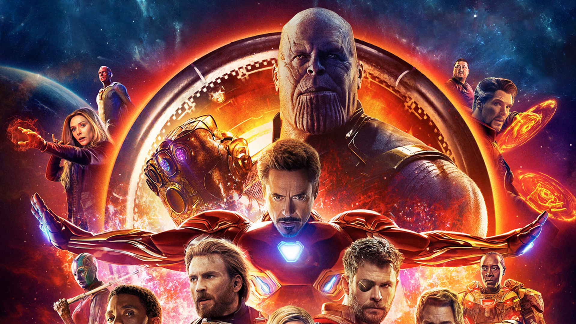 1920x1080 avengers infinity war 2018 4k poster laptop full hd 1080p