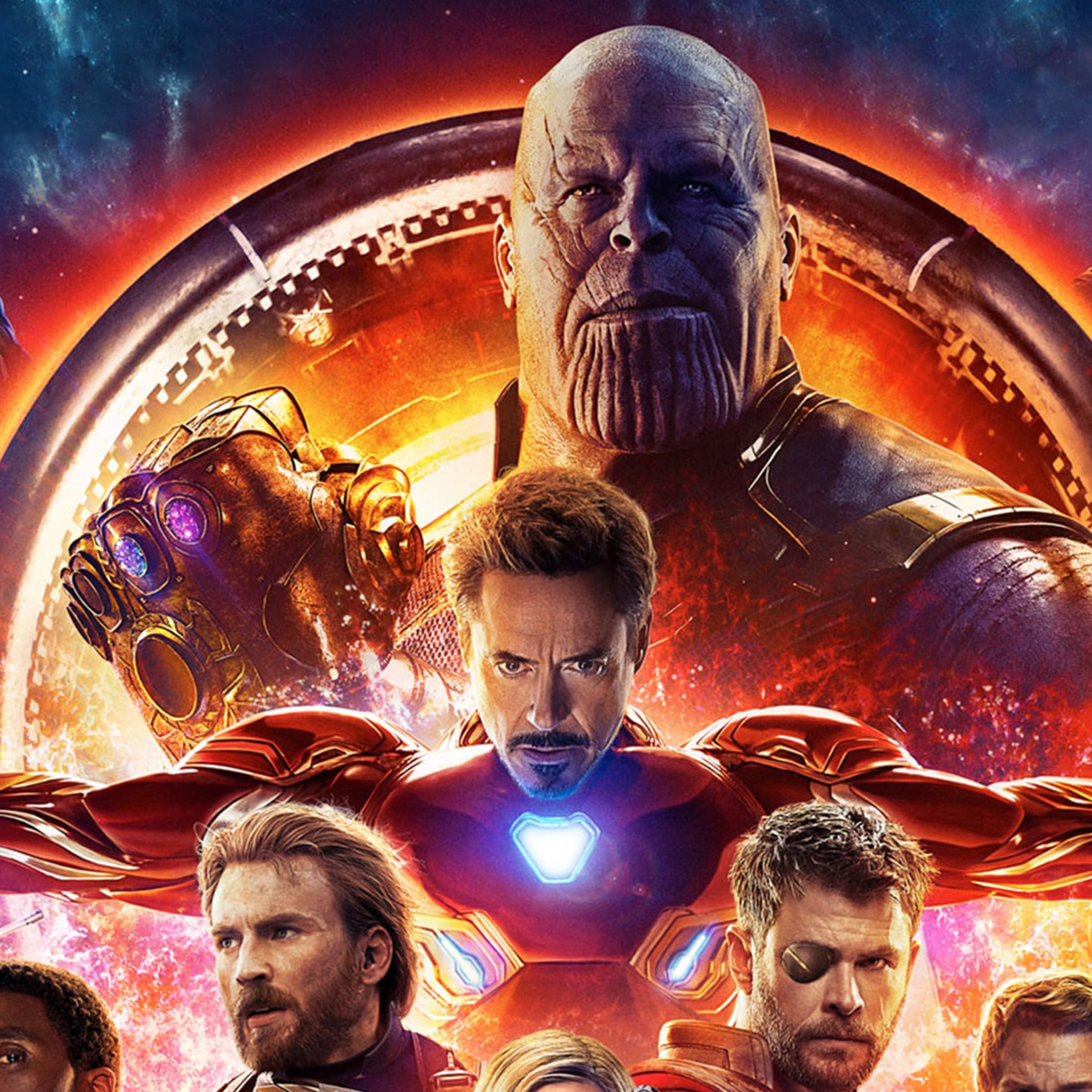 2932x2932 Avengers Infinity War 2018 4k Poster Ipad Pro ...